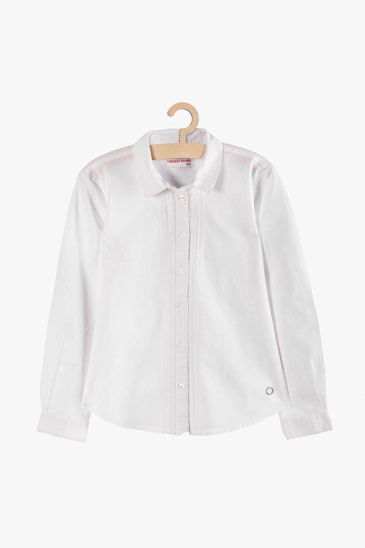 Biała elegancka koszula dla dziewczynki