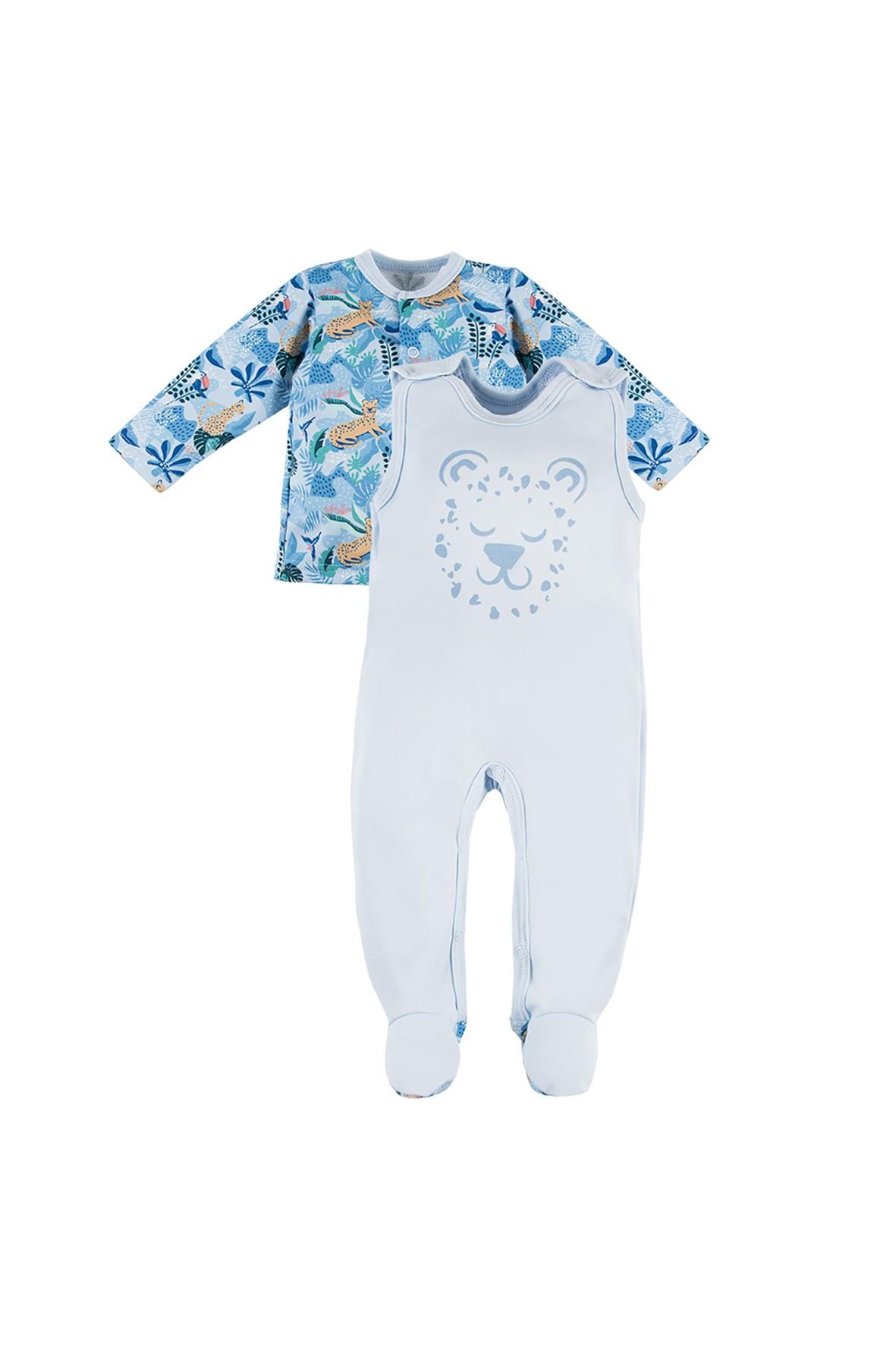 Komplet niemowlęcy NATURE niebieski