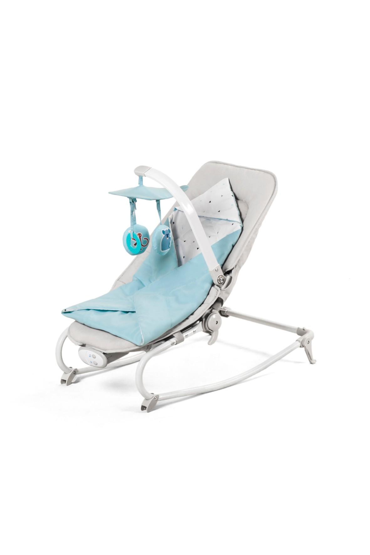 Leżaczek niemowlęcy niebieski Kinderkraft