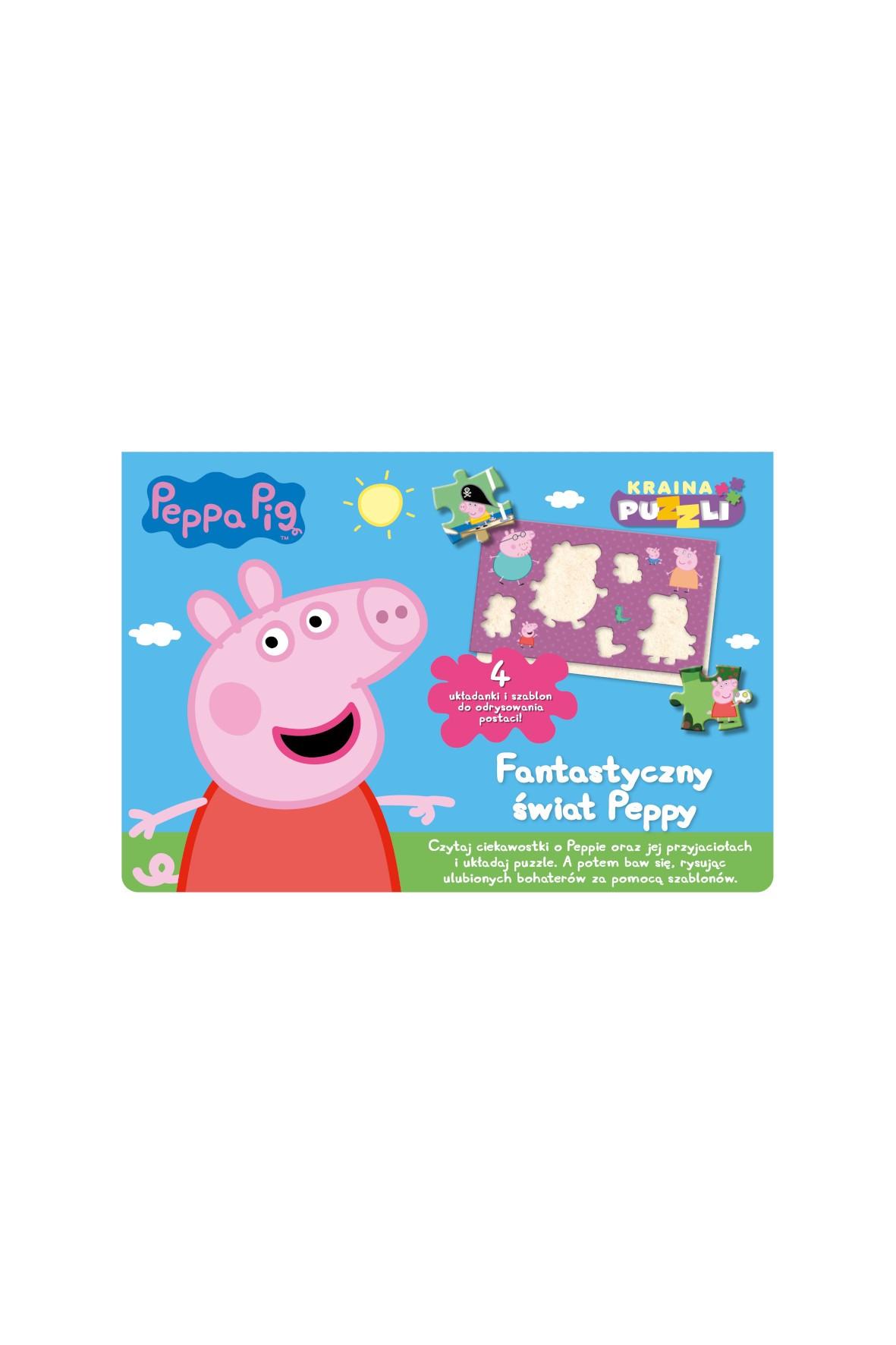 Książki dziecięce - Świnka Peppa. Kraina puzzli. Fantastyczny świat Peppy