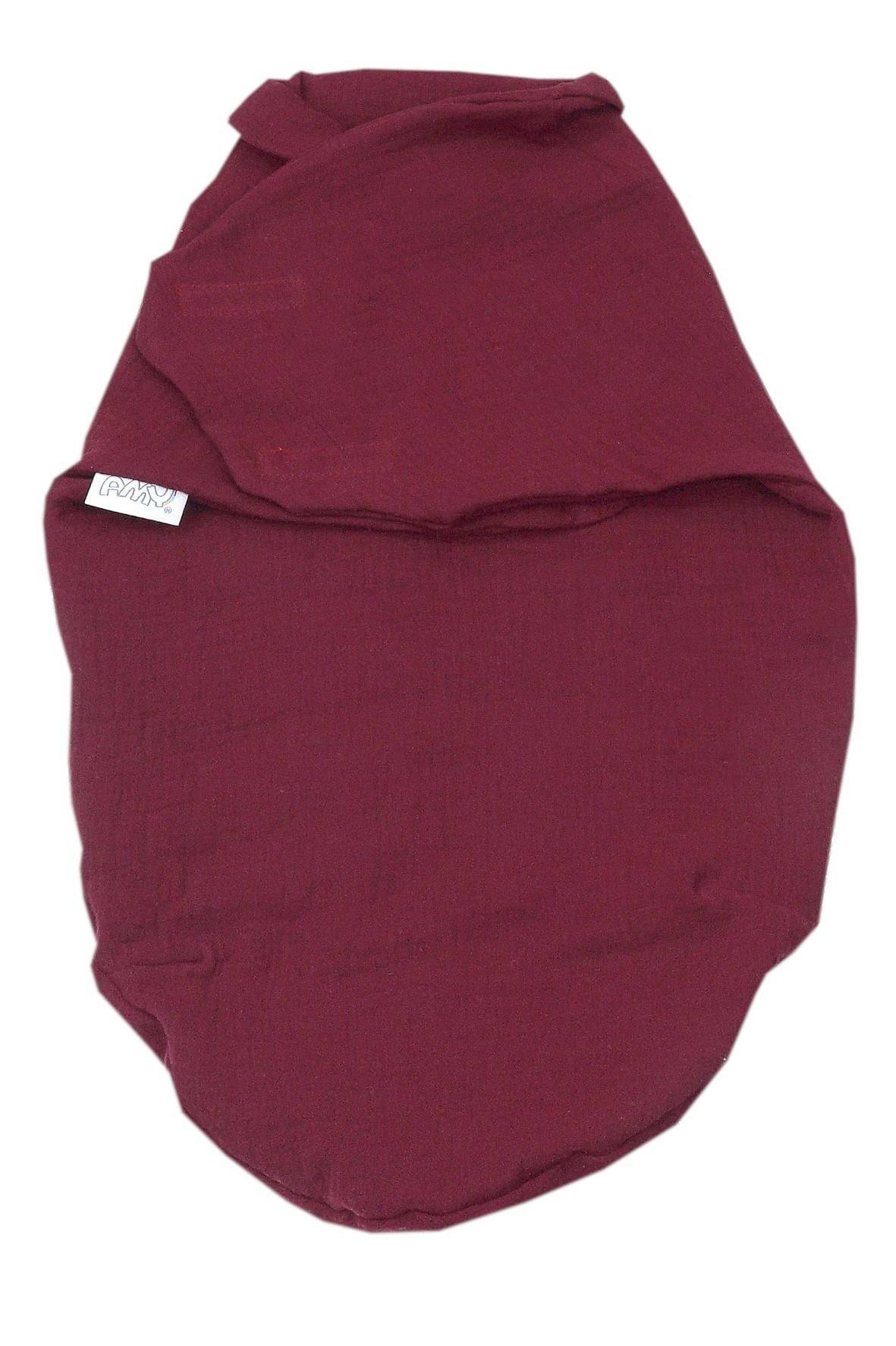 Otulacz niemowlęcy 72x60cm bordowy