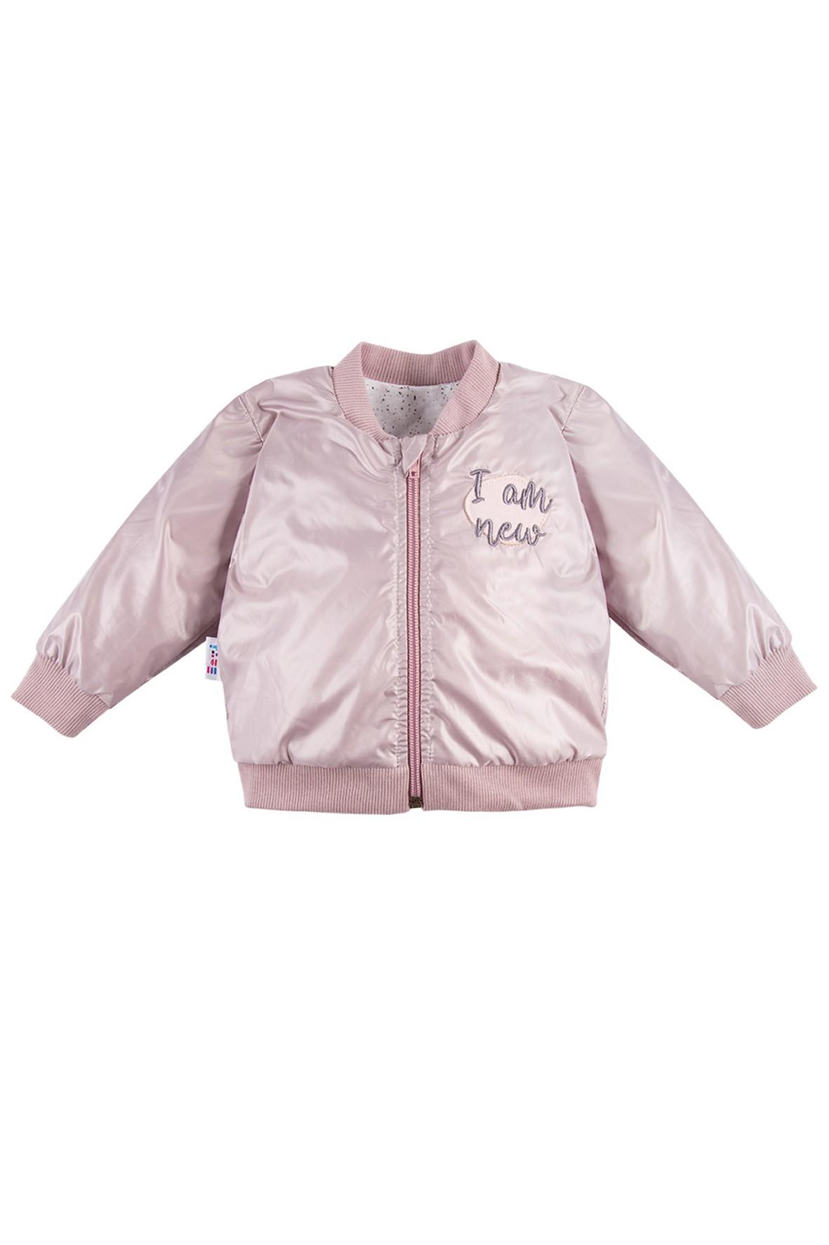 Kurtka dziewczęca bomberka - różowa