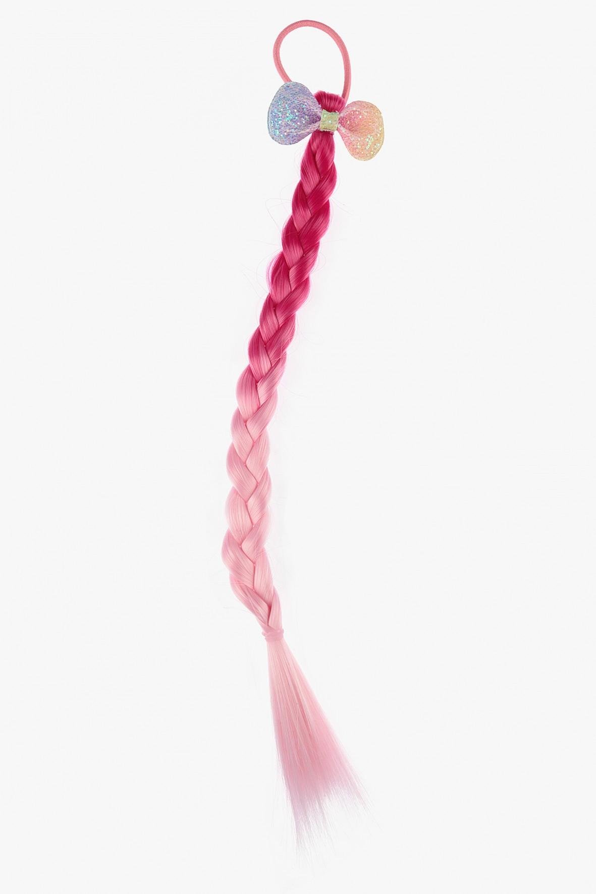 Gumka do włosów z różowym warkoczem