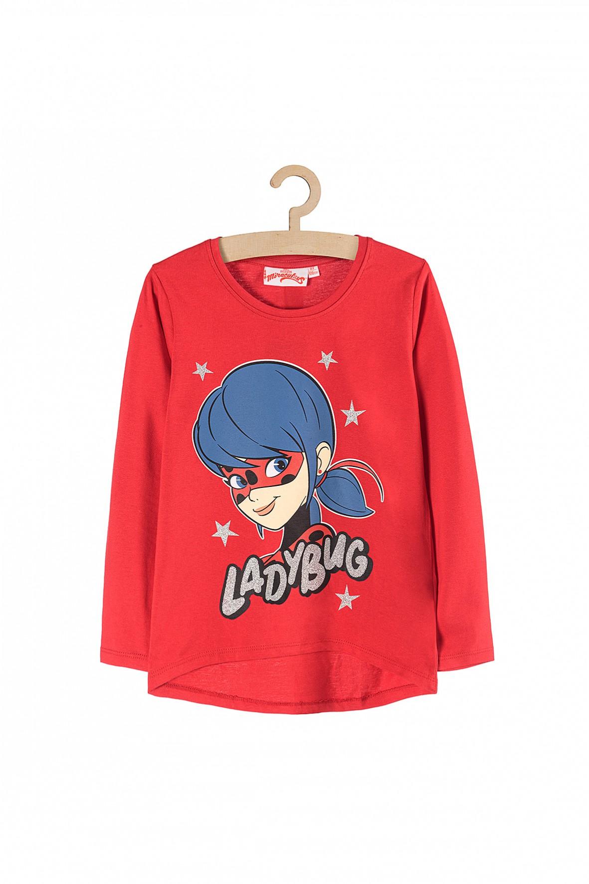 Bluzka dziewczęca Miraculous- czerwona z długim rękawem