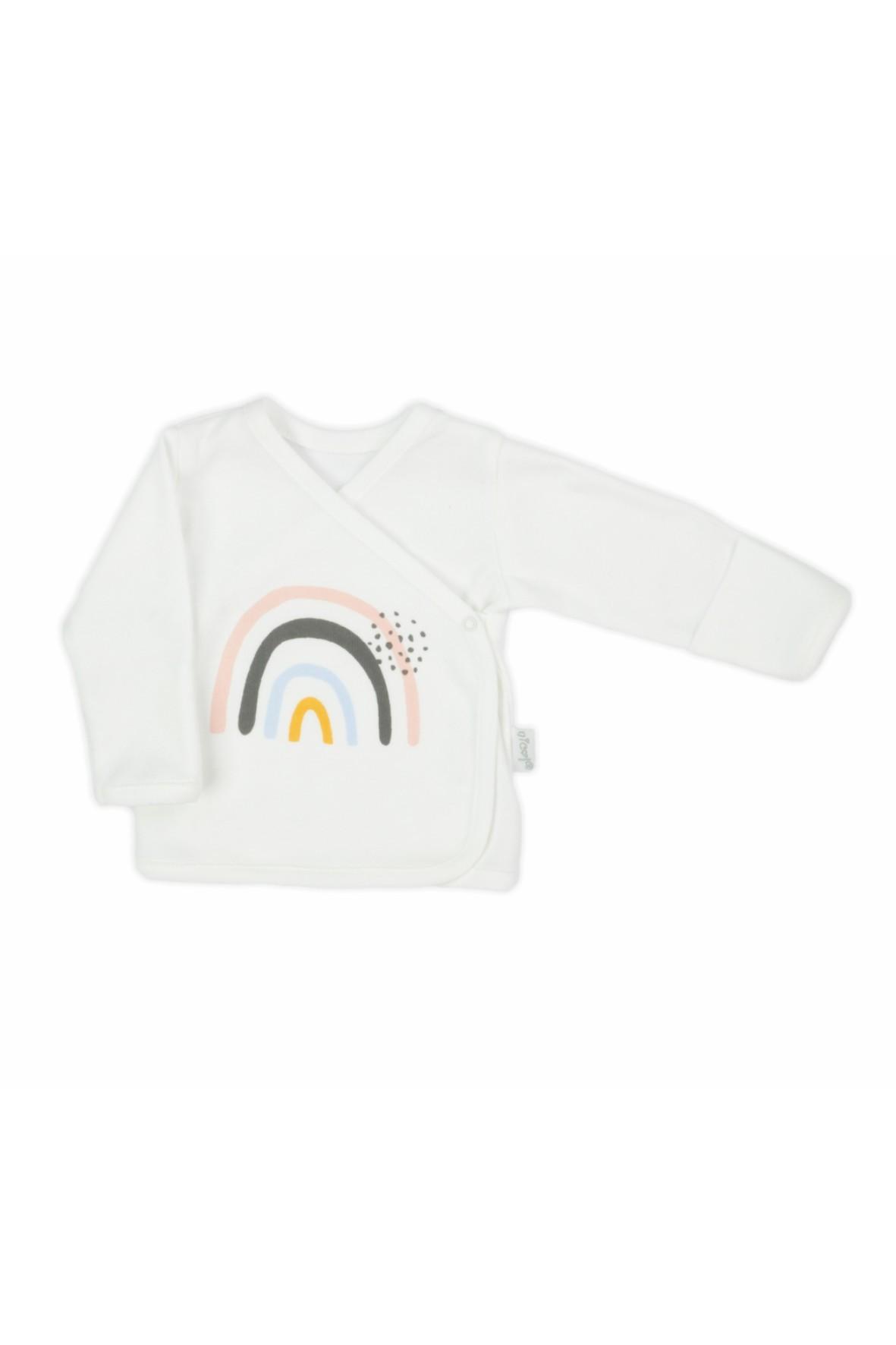 Bawełniany kaftanik dla noworodka - Rainbow