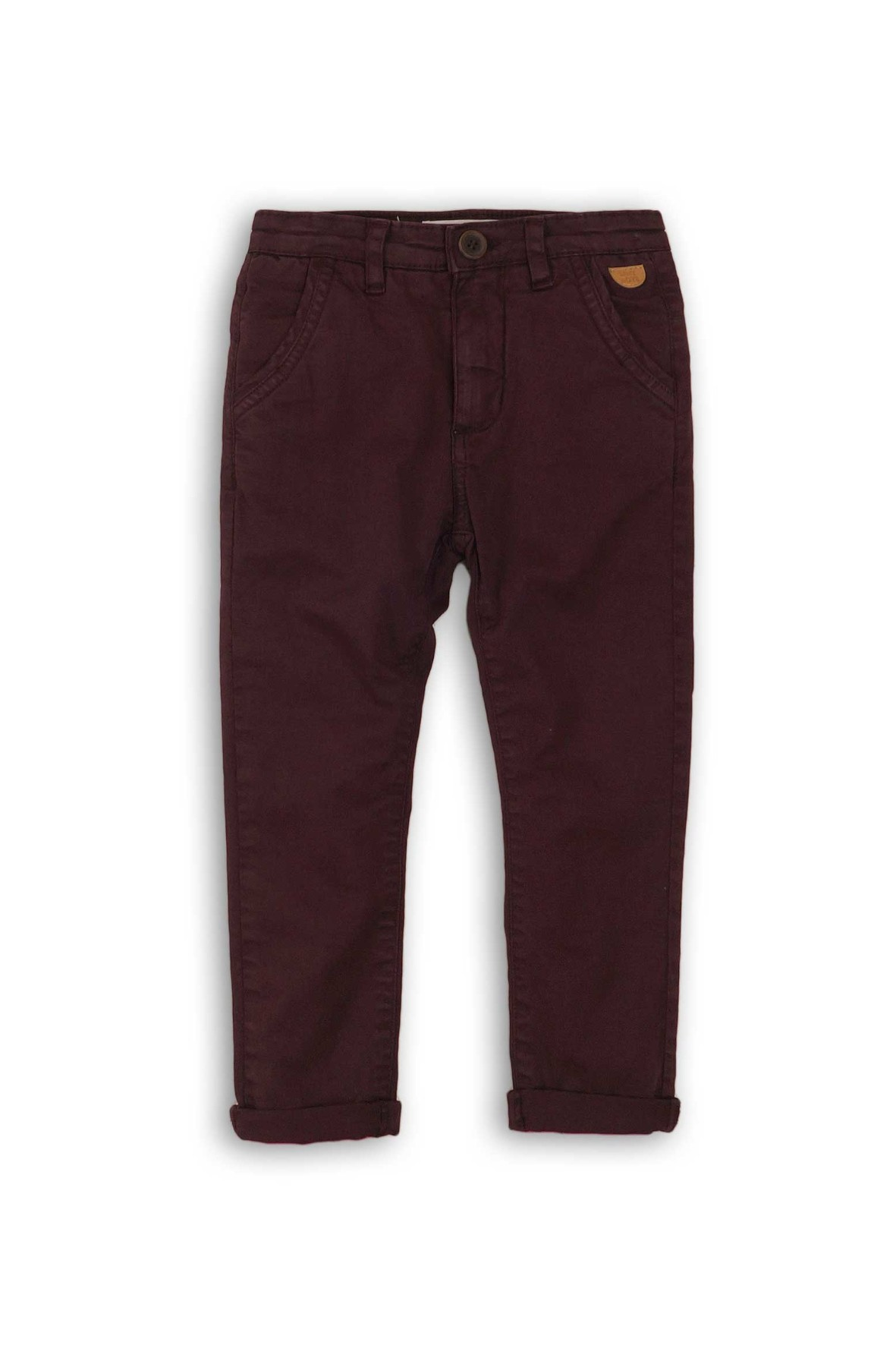 Bordowe spodnie chłopięce -chinosy rozm 92/98