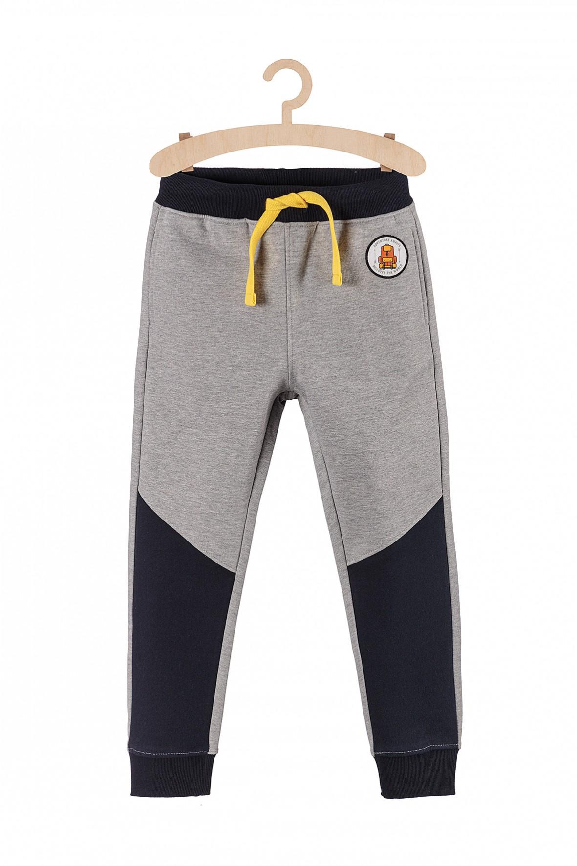 Spodnie chłopięce dresowe- szare