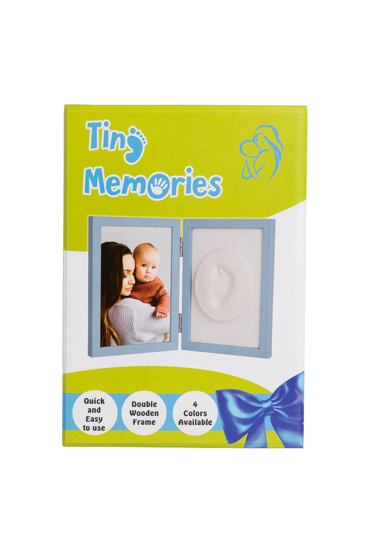 Zestaw Tiny Memories Ramka z Glinką - niebieski