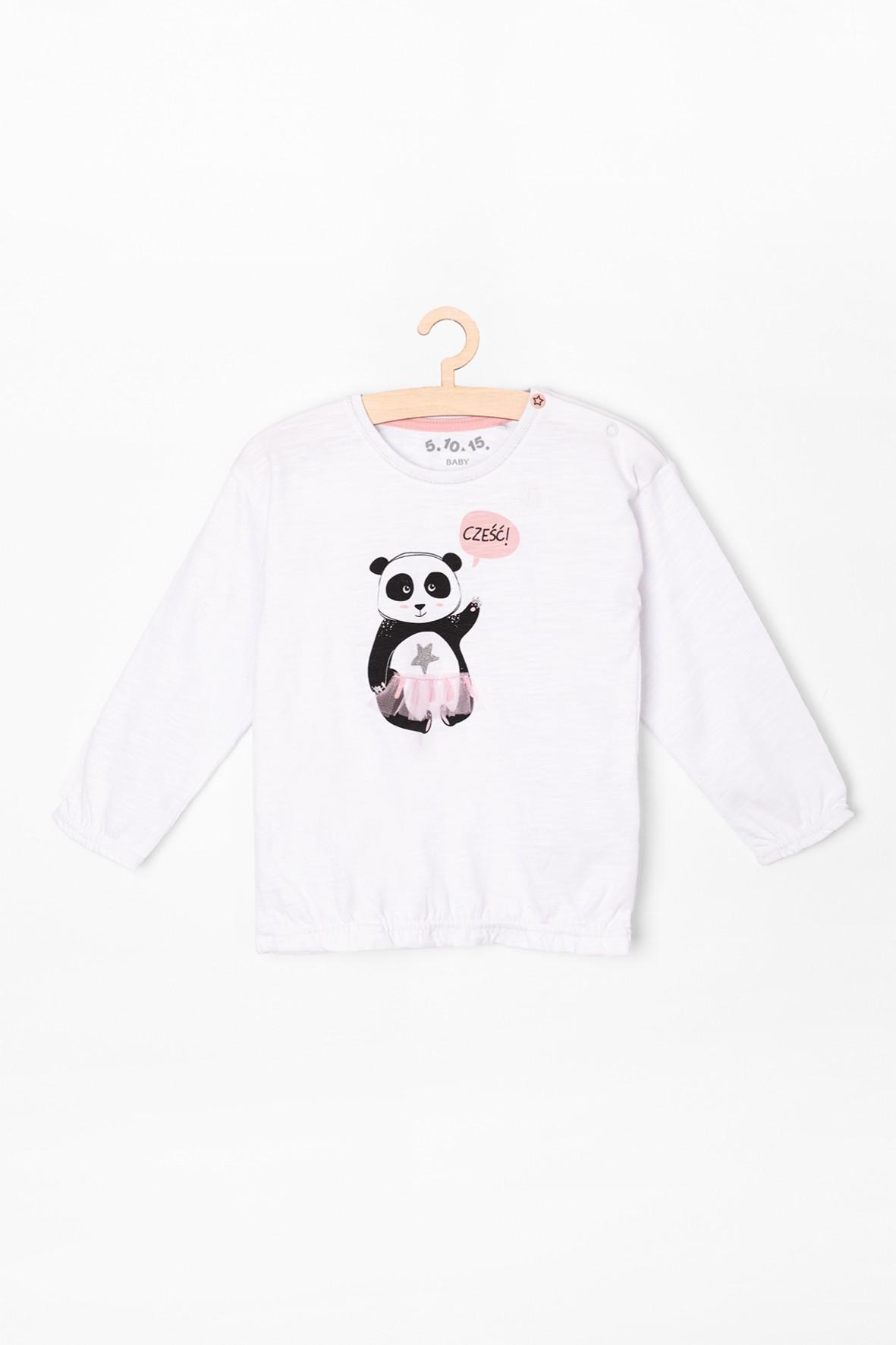 Bluzka dziewczęca z pandą