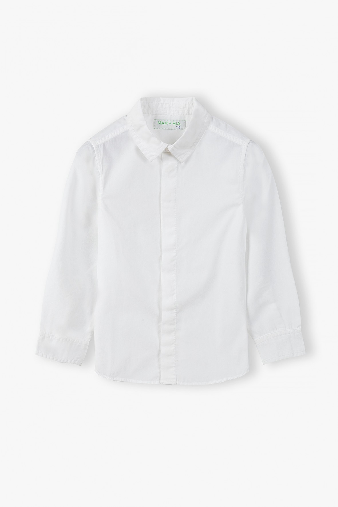Koszula chłopięca z długim rękawem- biała