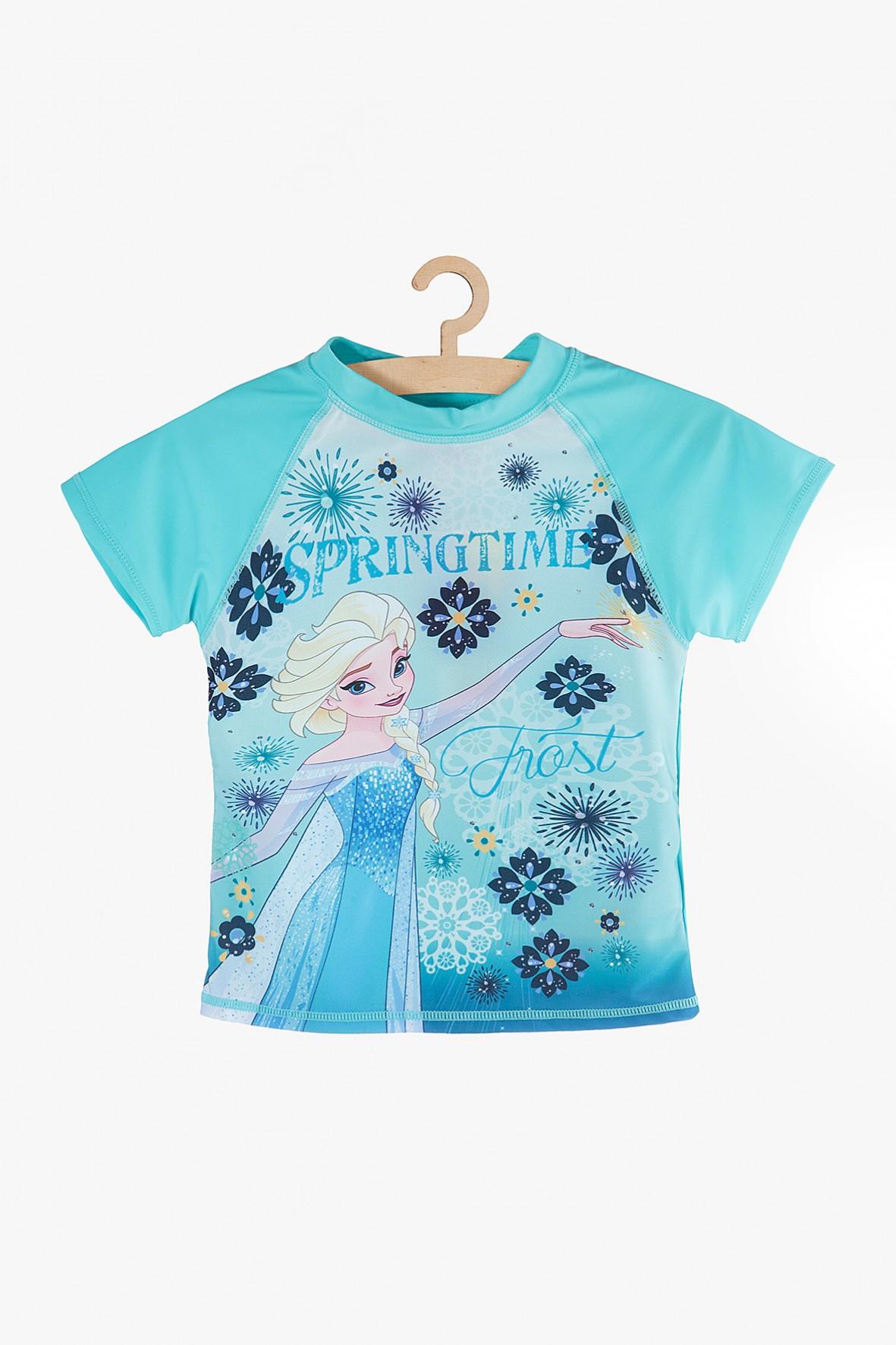 T-Shirt kąpielowy Frozen niebieski