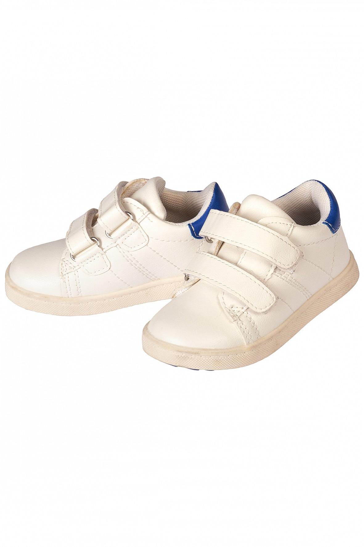 Buty chłopięce sportowe białe na rzep