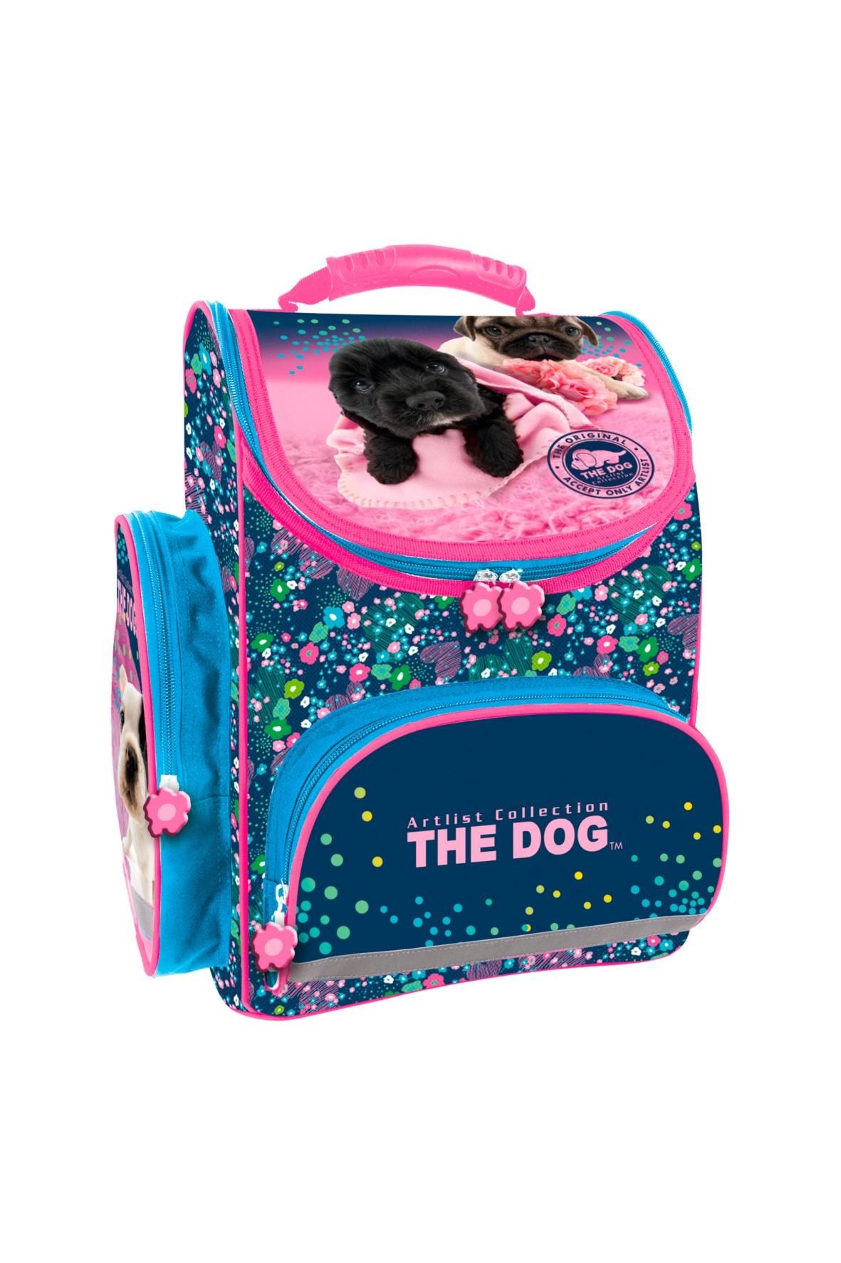 Tornister szkolny dziewczęcy The Dog z odblaskiem