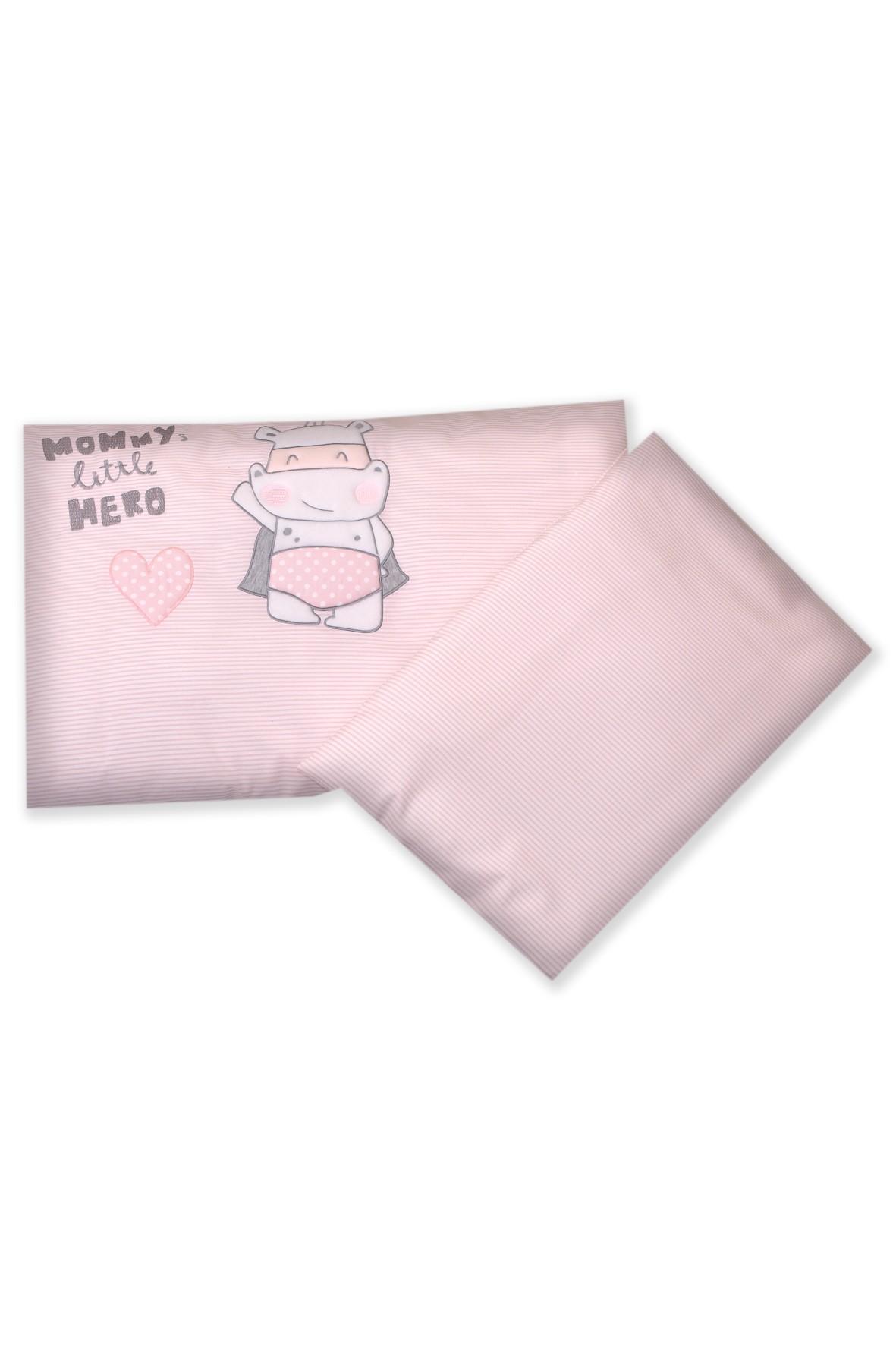Pościel dla dzieci Amy 2-elementowa Hero Pink 135x100cm