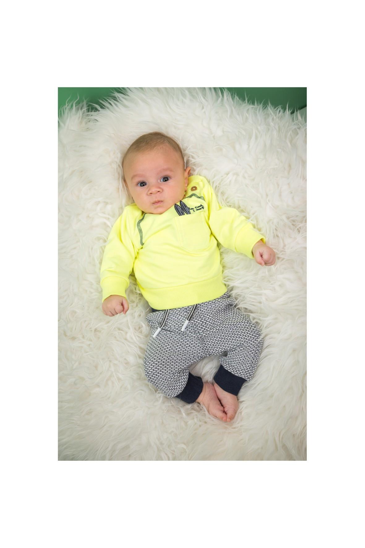 Komplet niemowlecy bluza i spodnie dzianinowe