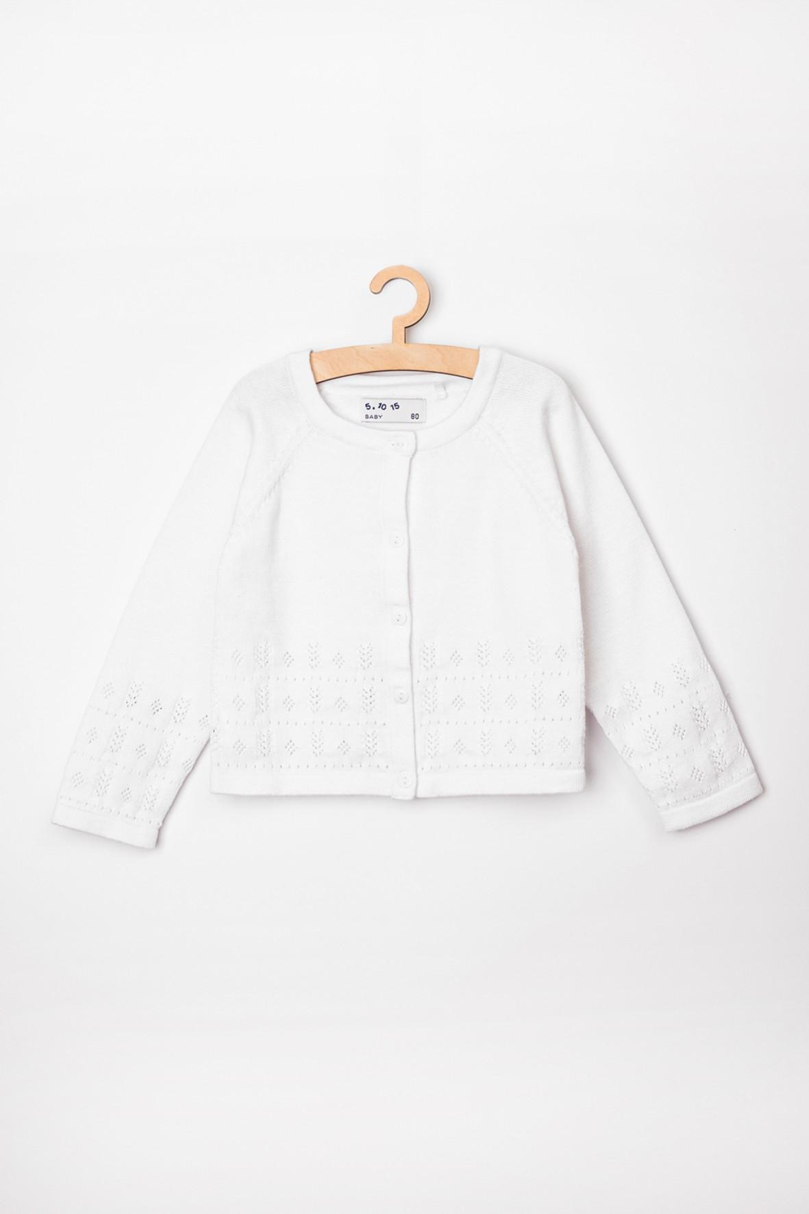 Sweter niemowlęcy biały