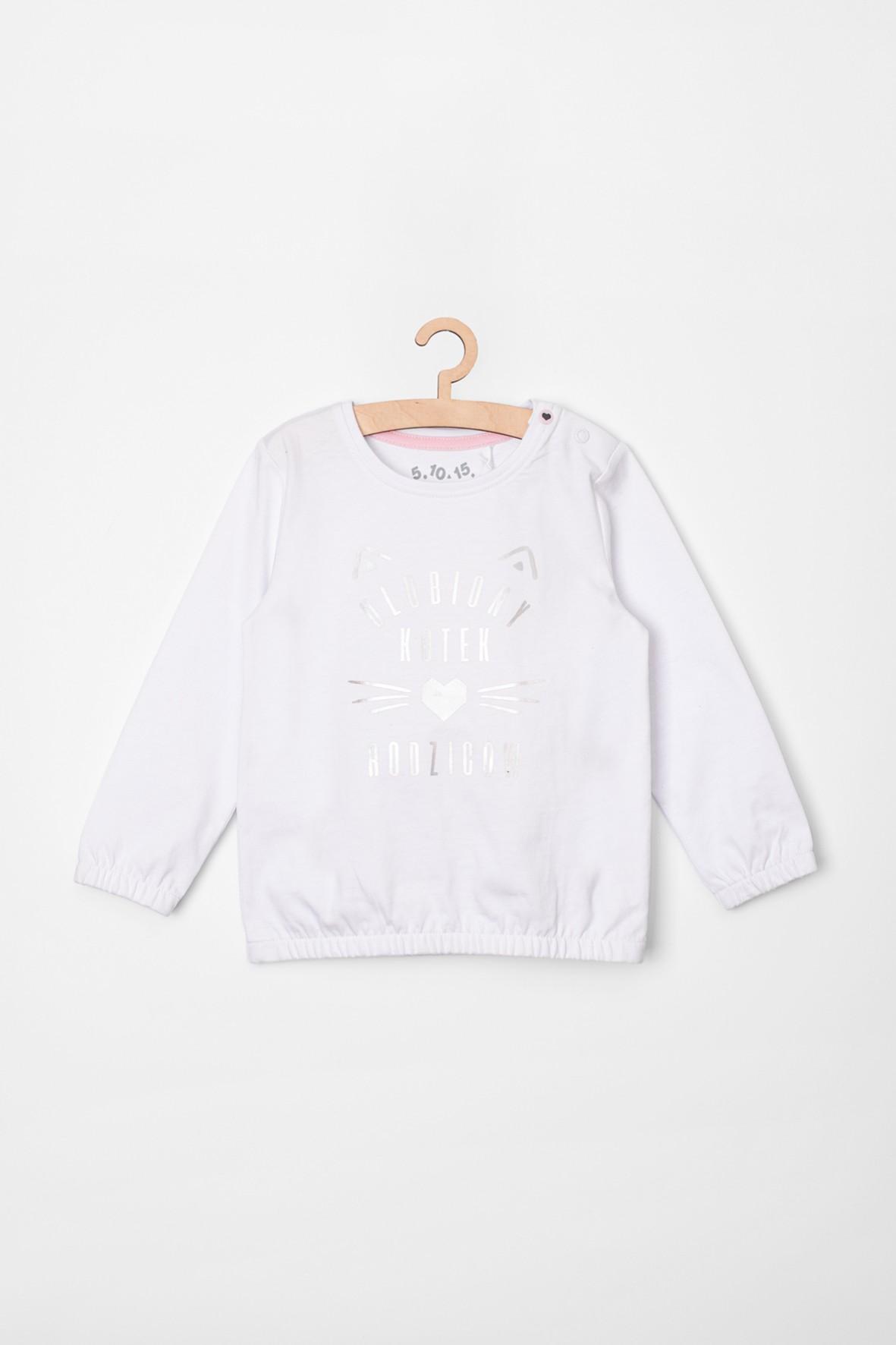 Biała bluzka dla dziewczynki- polskie napisy