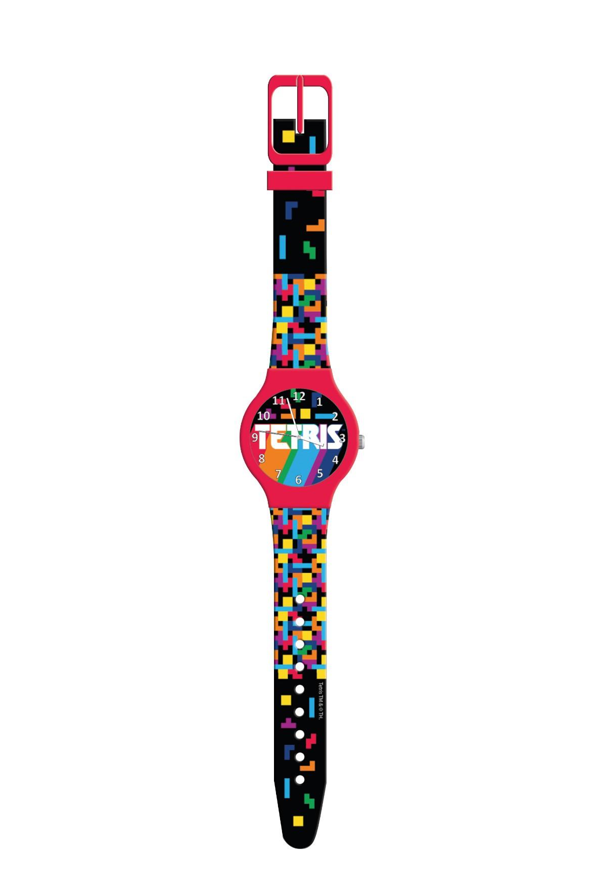 Zegarek analogowy w puszce TETRIS