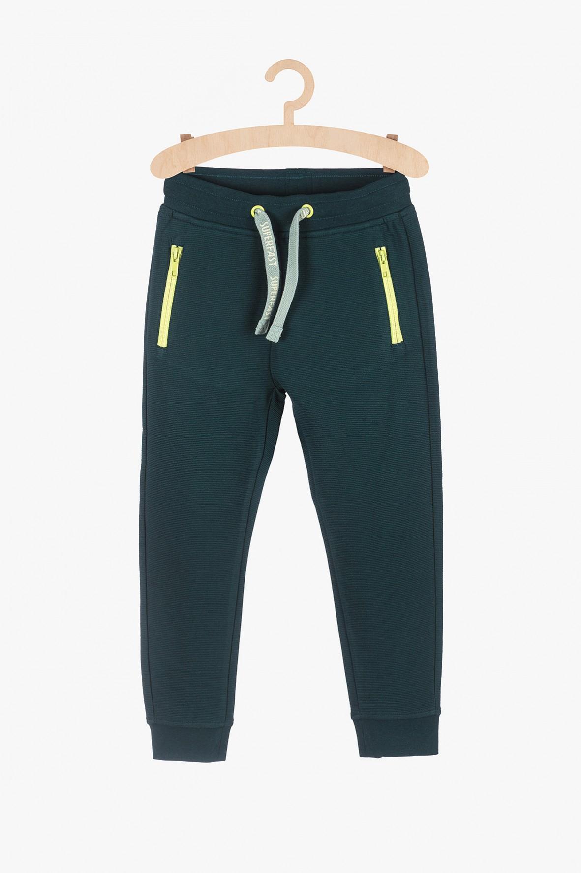 Spodnie dresowe dla chłopca  - zielone