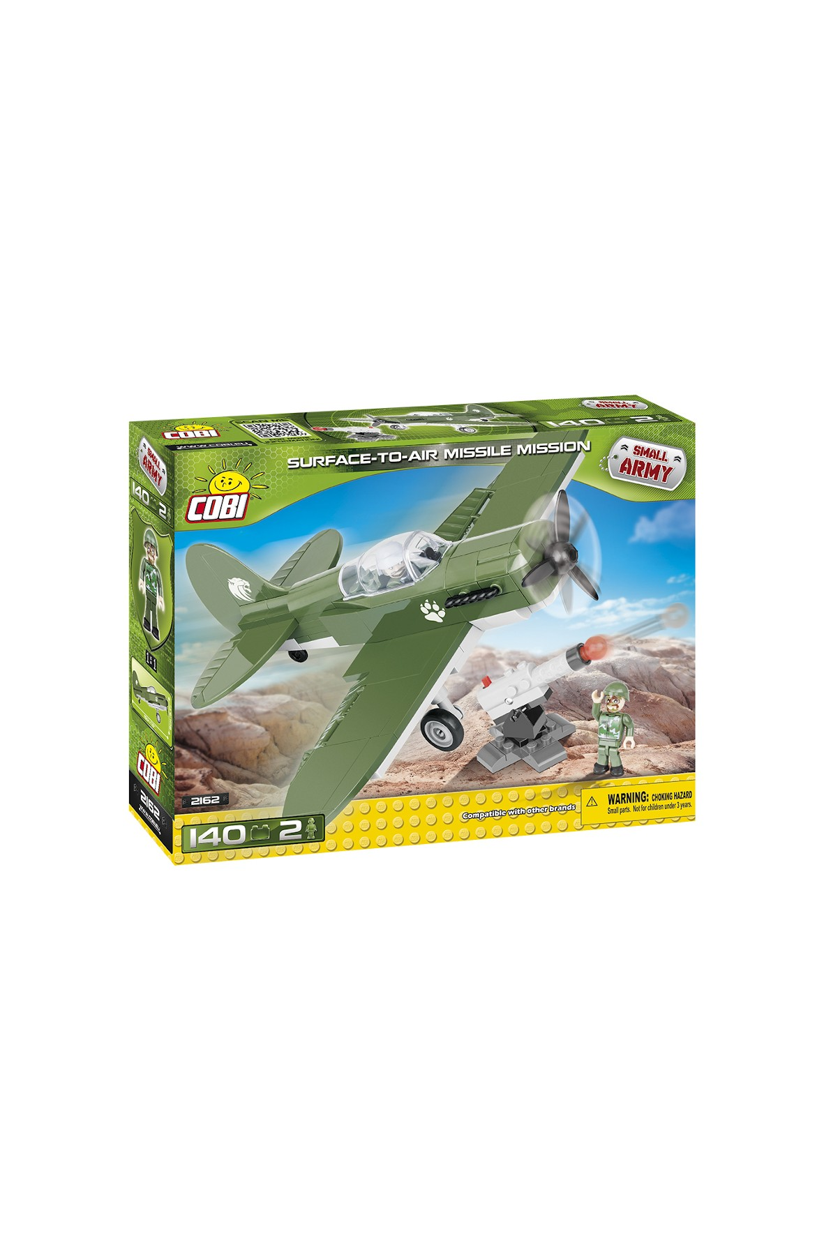 Klocki COBI Small Army Surface to Air missile mission 140el