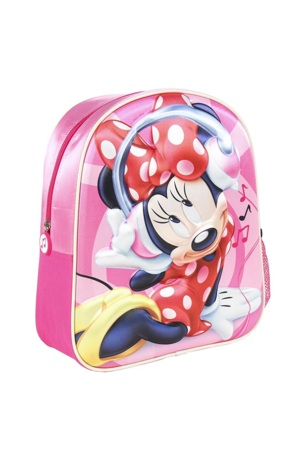 Plecak 3D Myszka Minnie - różowy