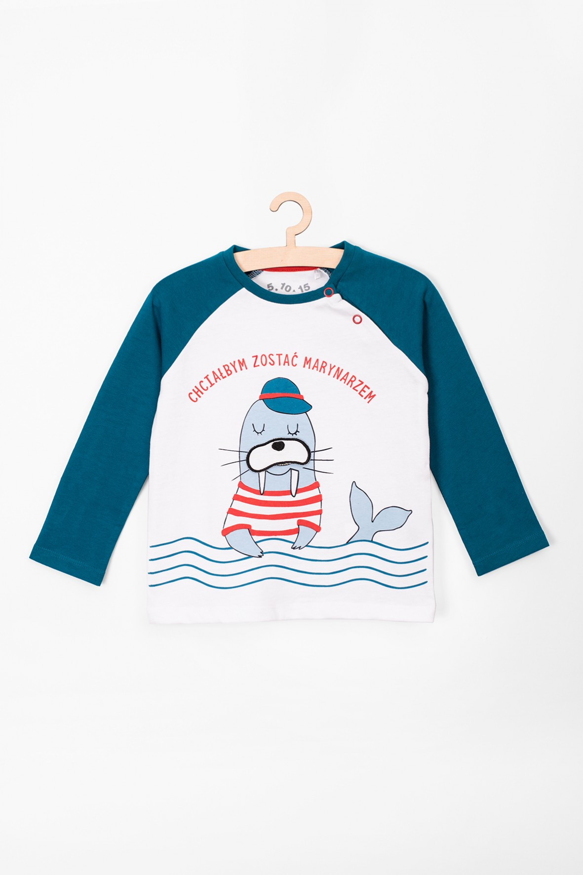 Bluzka chłopięca z morsem 100% bawełna