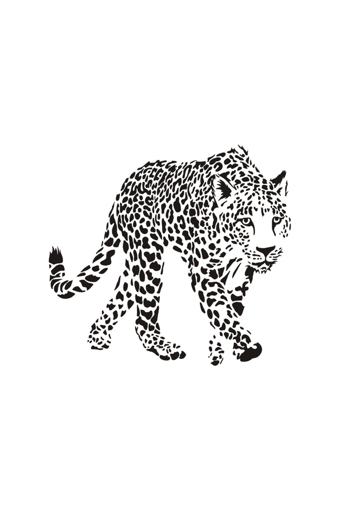 Naklejka welurowa Gepard