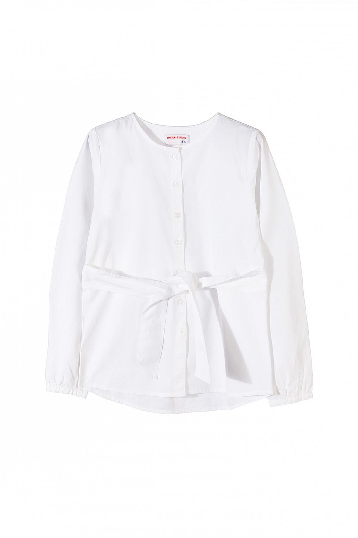Biała elegancka koszula dziewczęca na specjalne okazje
