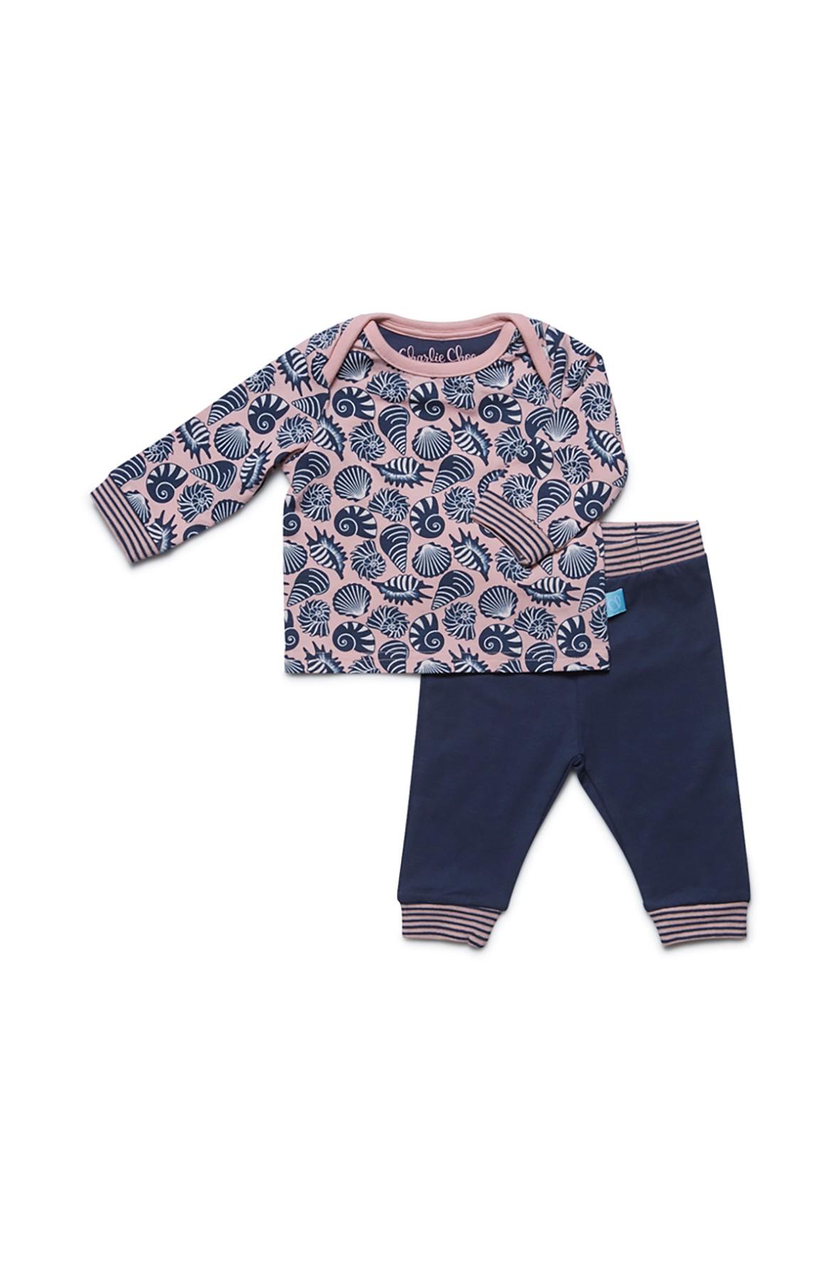 Komplet niemowlęcy - bluzka i legginsy