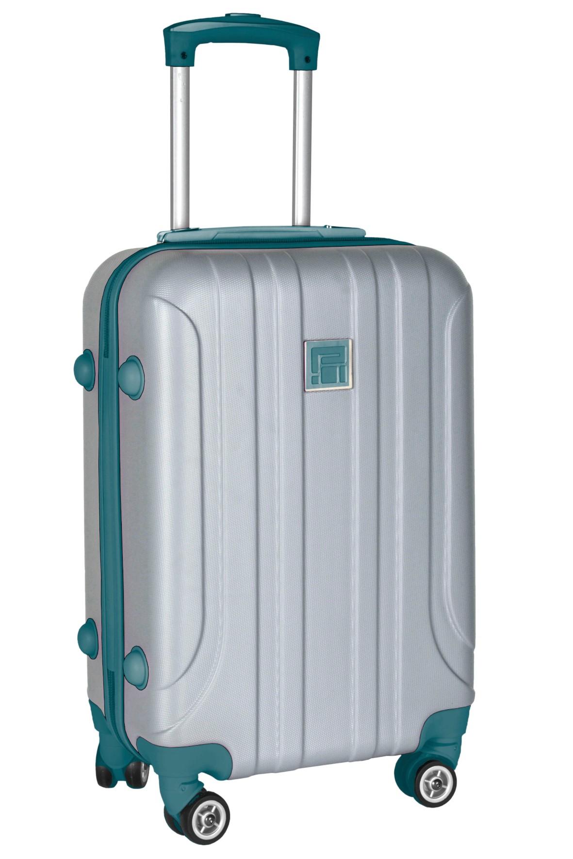 Mała walizka PASO szara- 55×38×23cm