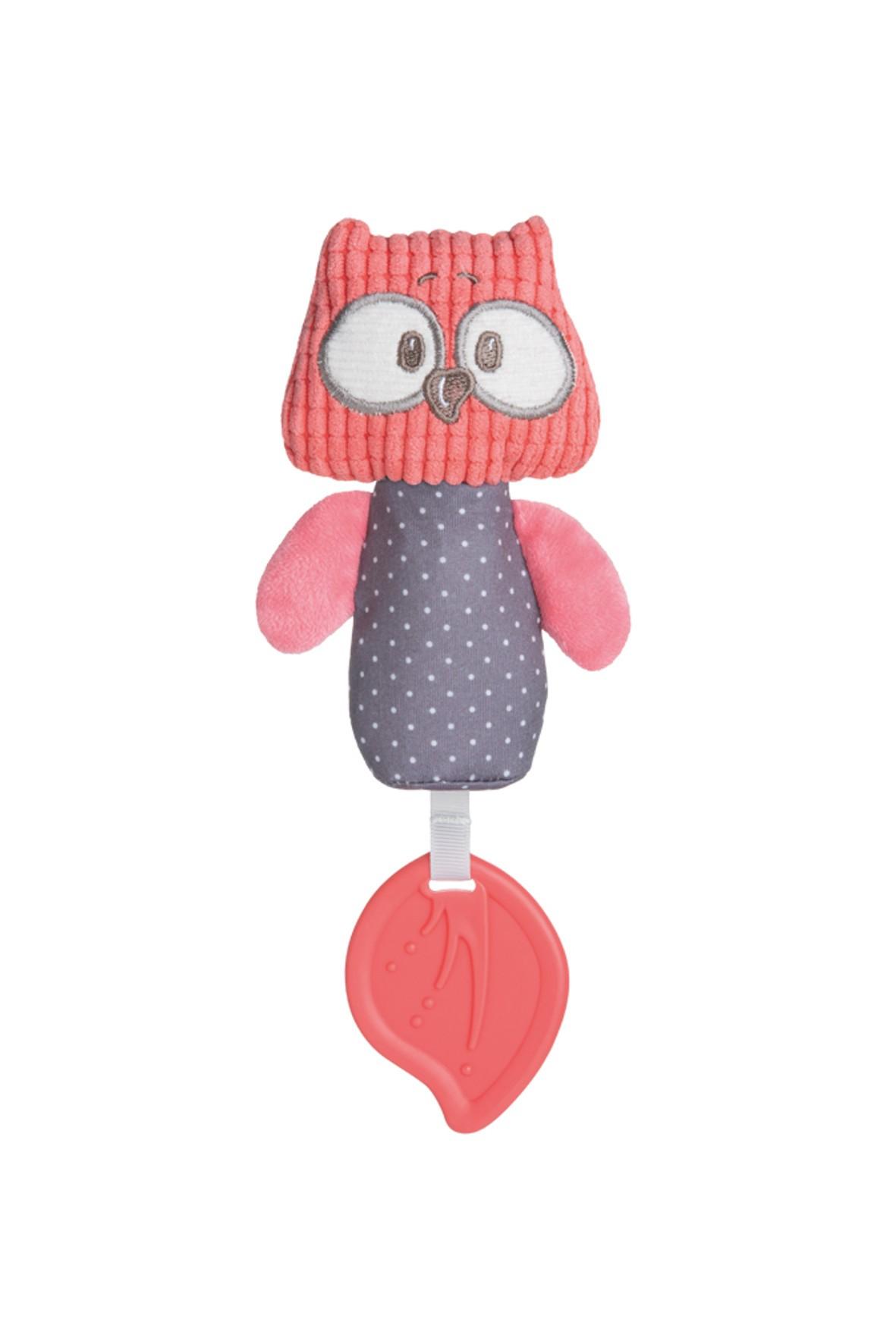 Miękka pluszowa zabawka z piszczkiem i gryzakiem
