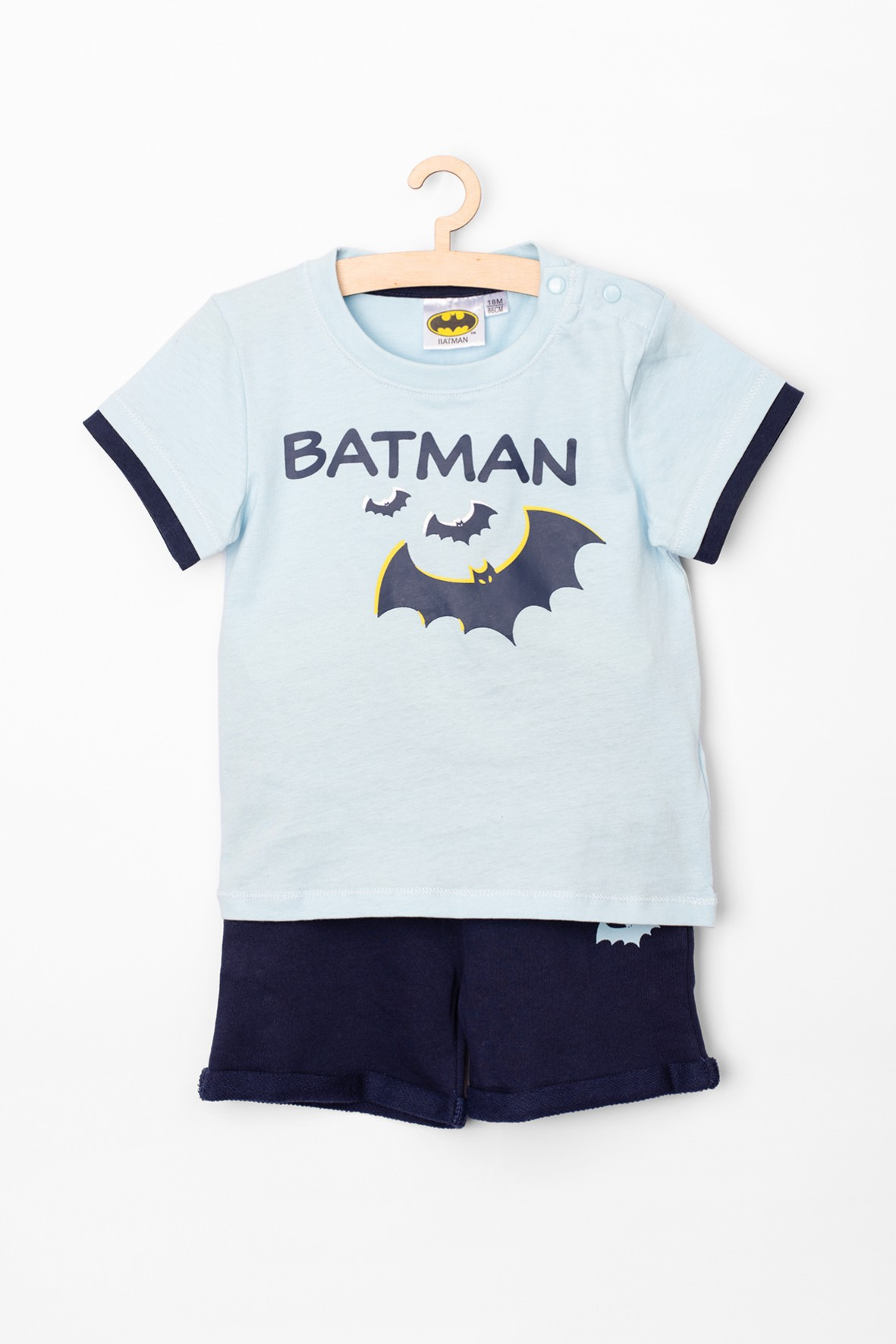 Komplet niemowlęcy t-shirt i spodenki Batman