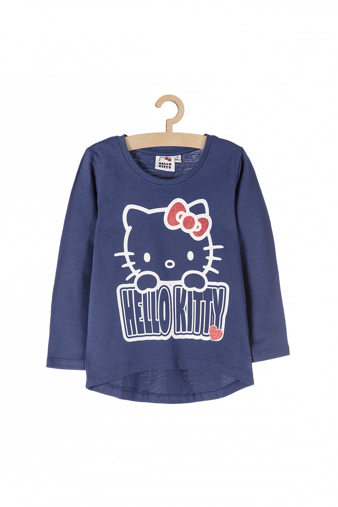 Bluzka dziewczęca granatowa z kotkiem z bajki Hello Kitty