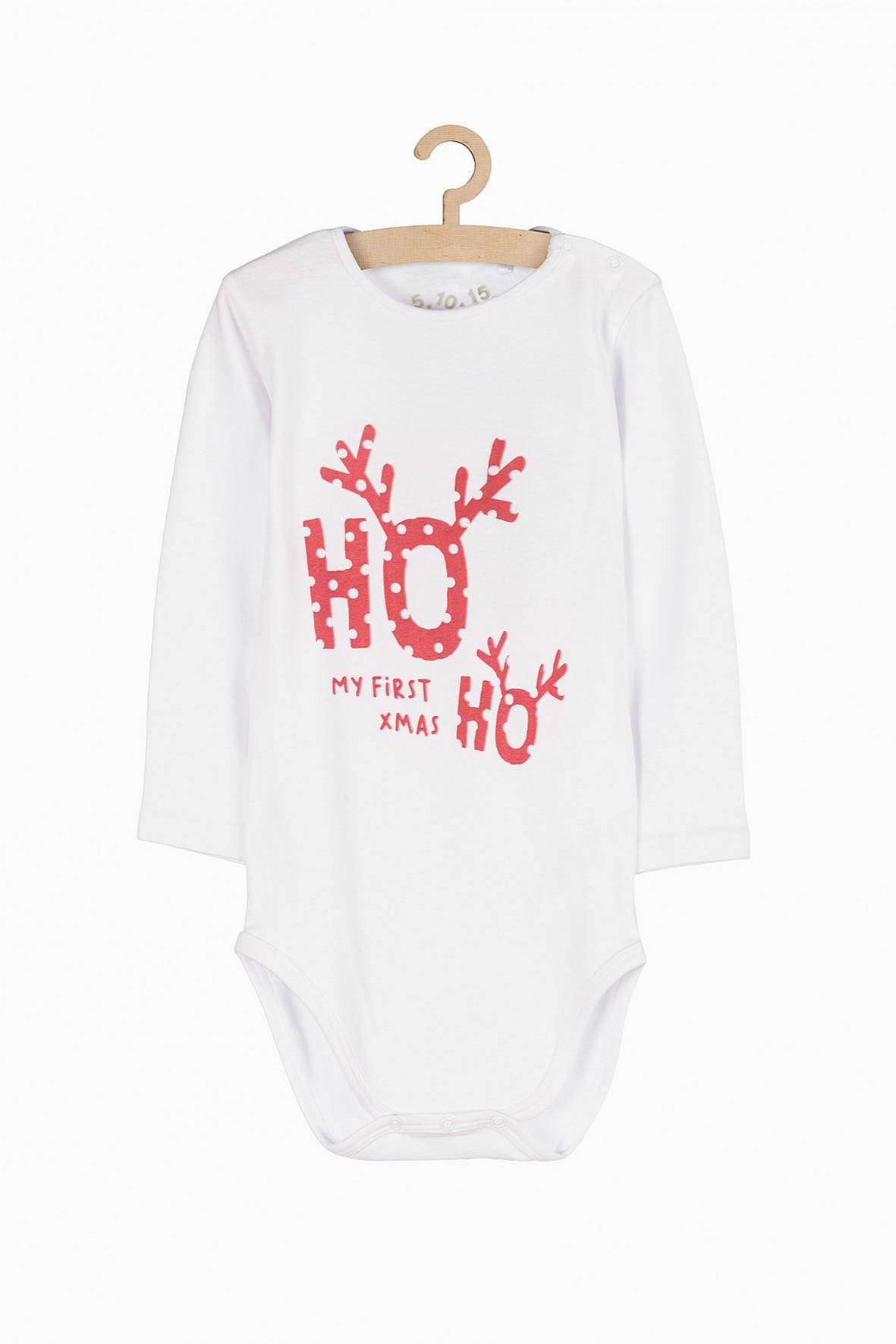 Body niemowlęce z motywem świątecznym