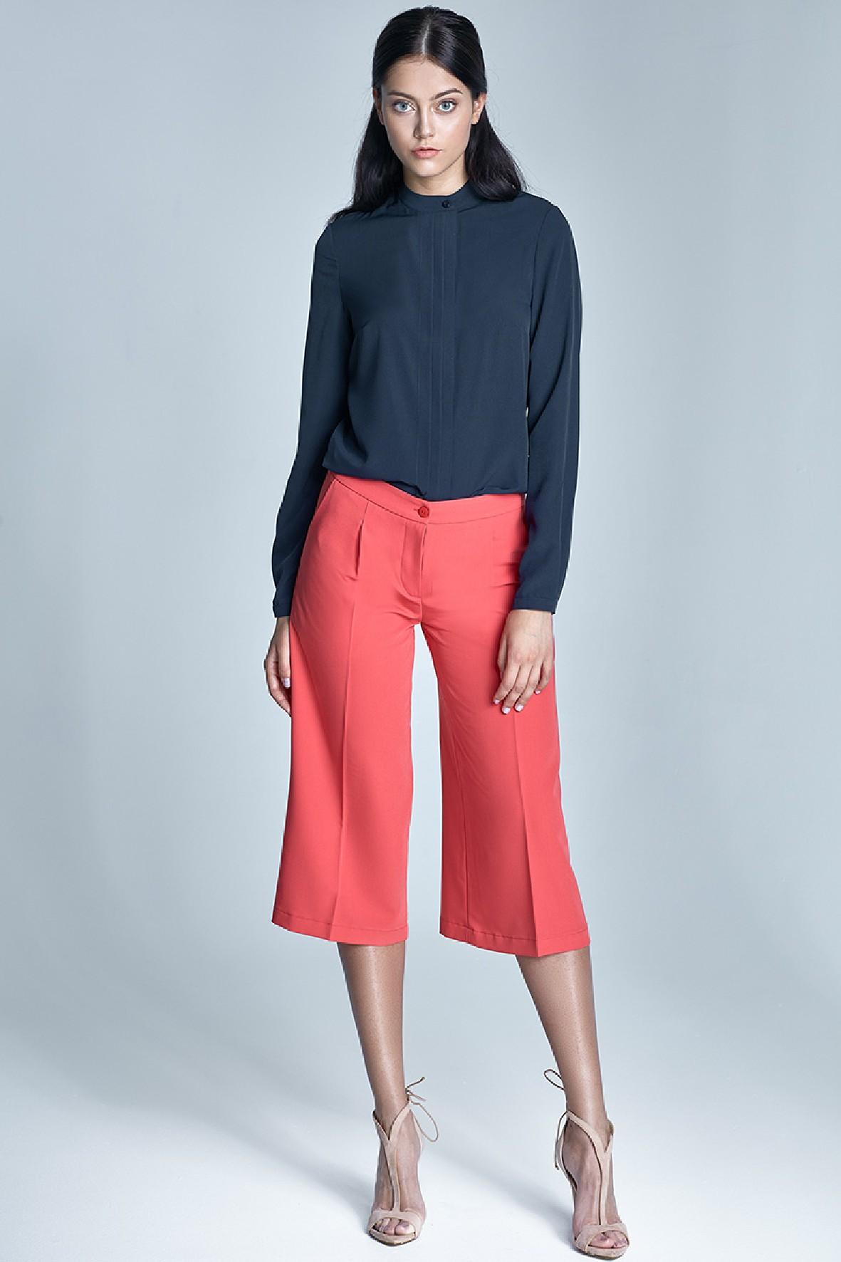 Damskie spodnie koralowe culottes