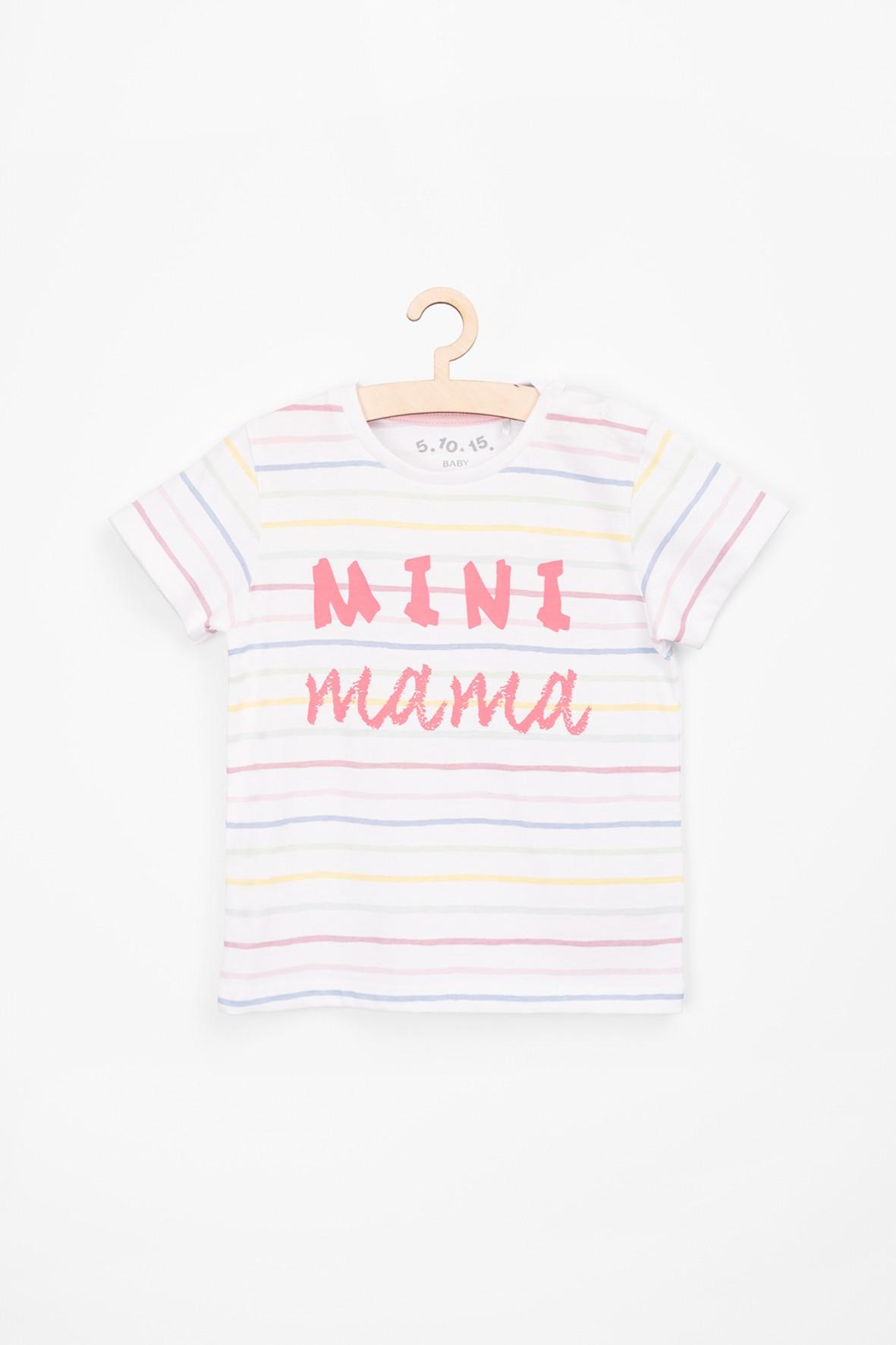 T-shirt dla niemowlaka z napisem-mini mama
