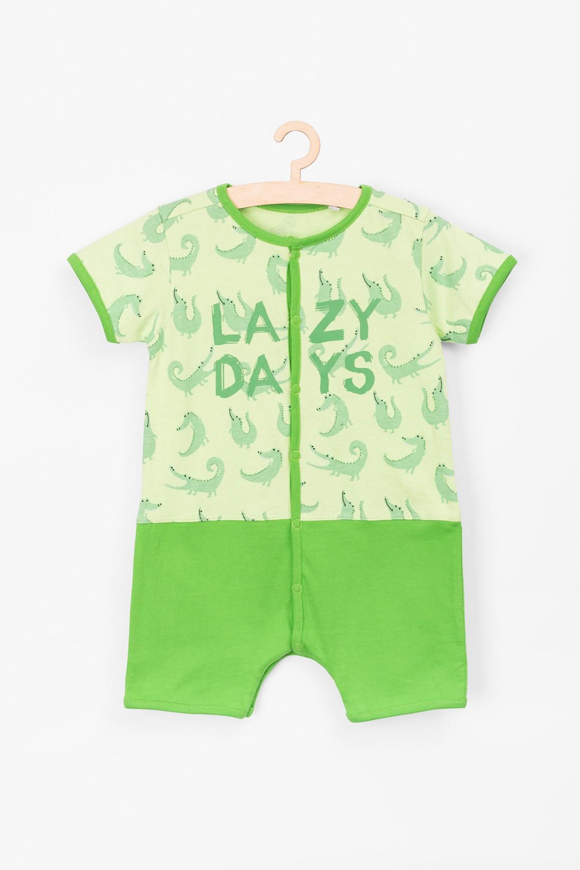Rampers niemowlęcy w krokodyle z napisem Lazdy Days
