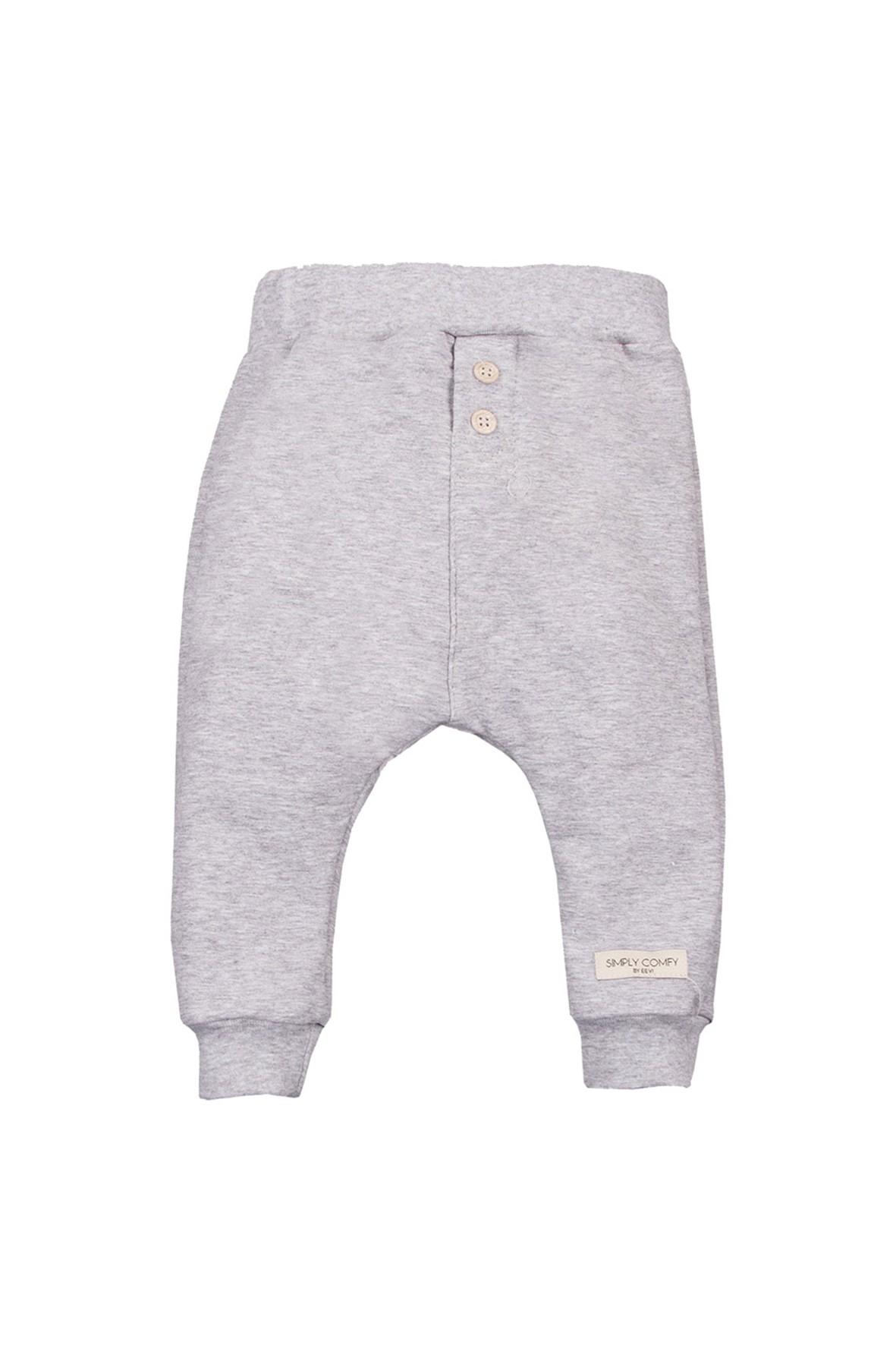 Bawełniane spodnie dresowe - szare