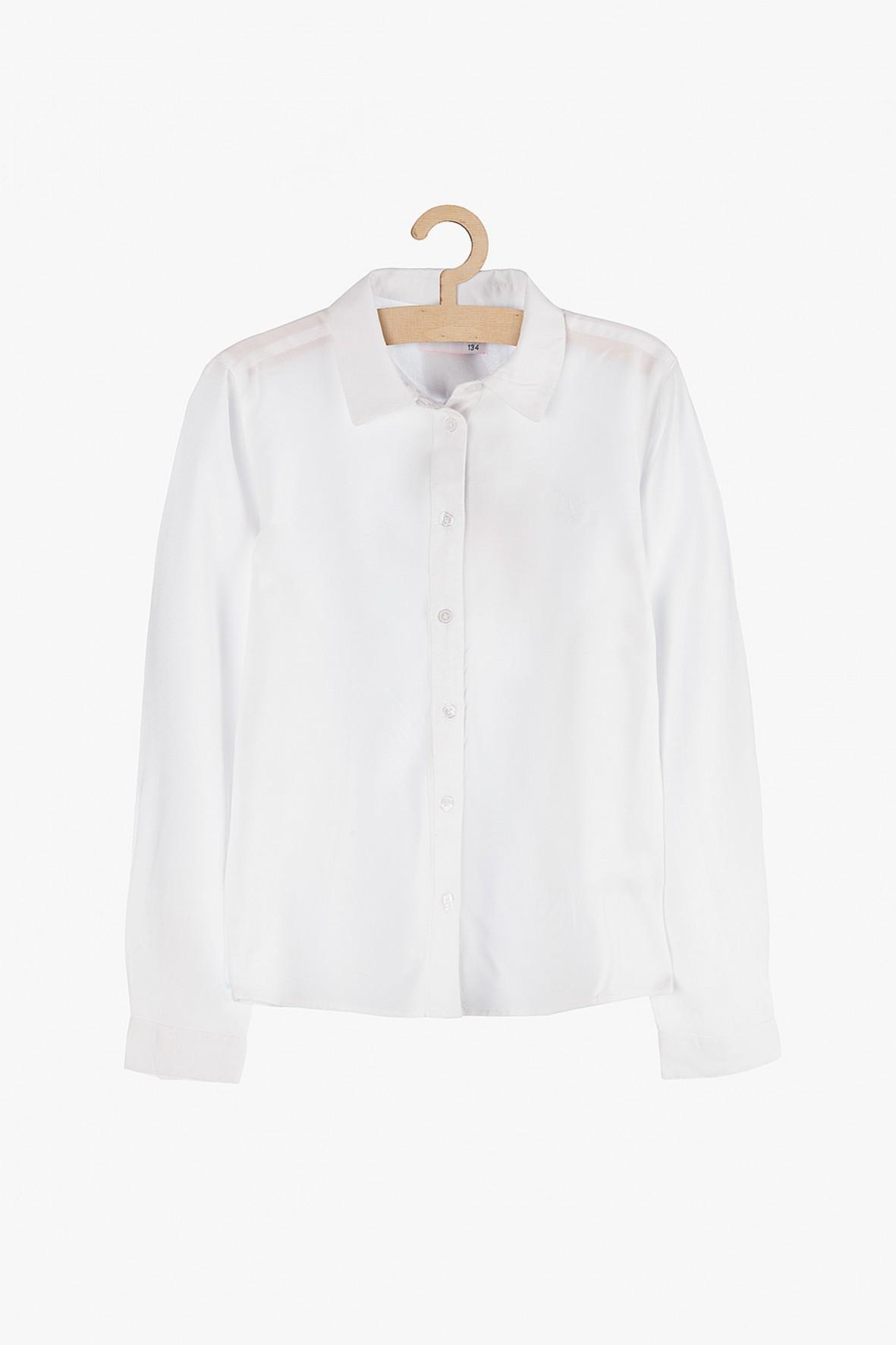 Elegancka, biała koszula z długim rękawem dla dziewczynki