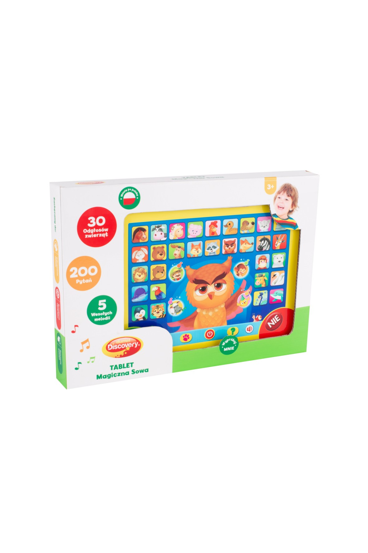 Tablet - Magiczna sowa- zabawka edukacyjna 3+