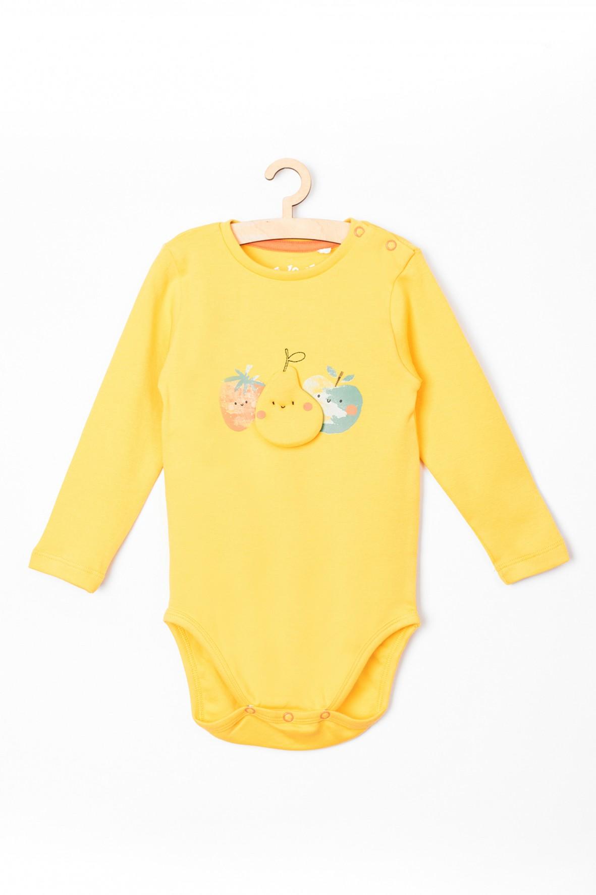 Body niemowlęce żółte -owoce- 100% bawełna