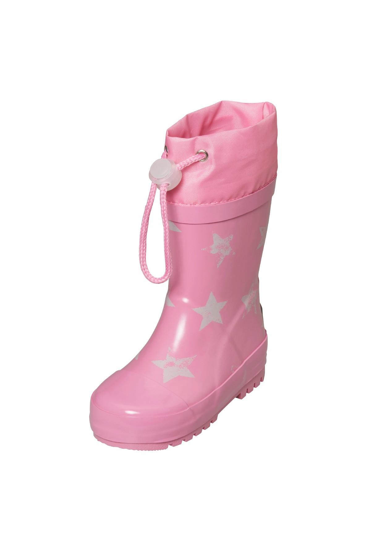 Kalosze dziewczęce-różowe w białe gwiazdki