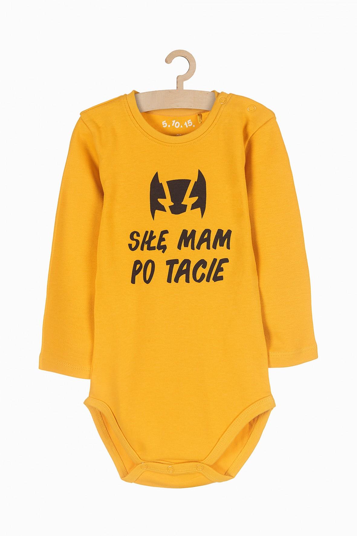 Body niemowlęce nawełniane - Siłę mam po tacie