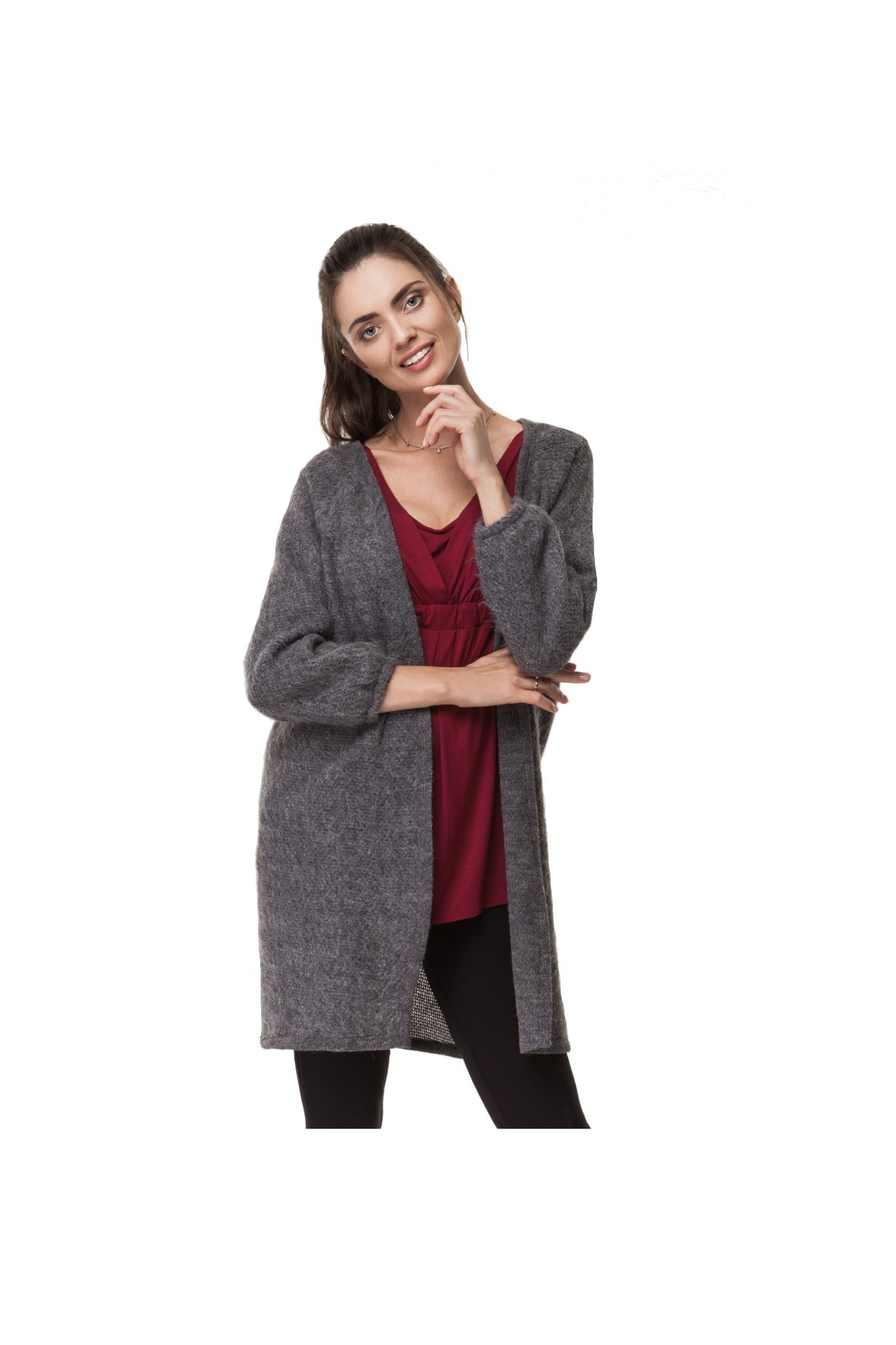 Cardigan ciążowy- ubrania dla mamy