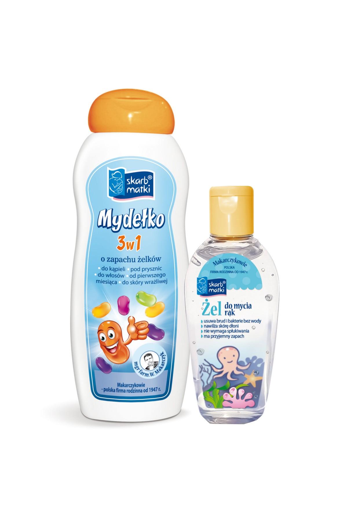 Żel do rąk i mydło 3w1 dla dzieci