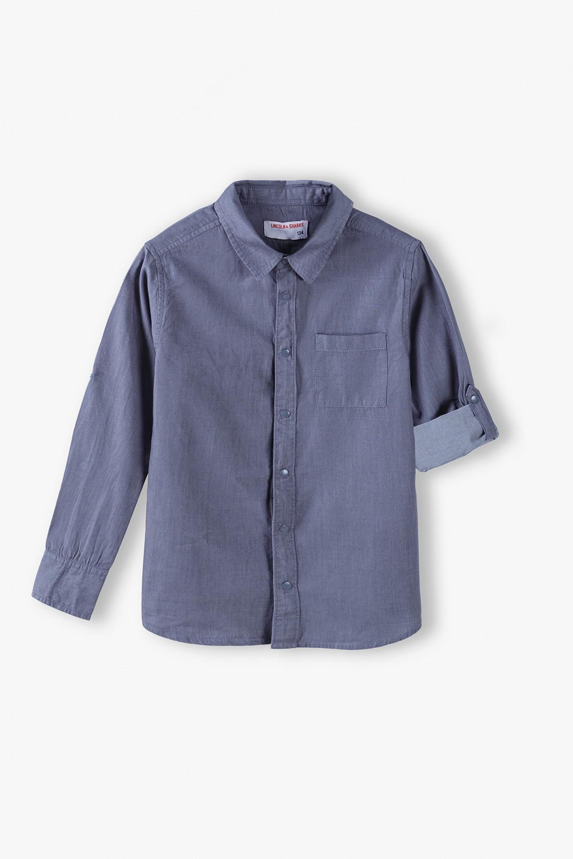 Bawełniana koszula chłopięca z długim rękawem