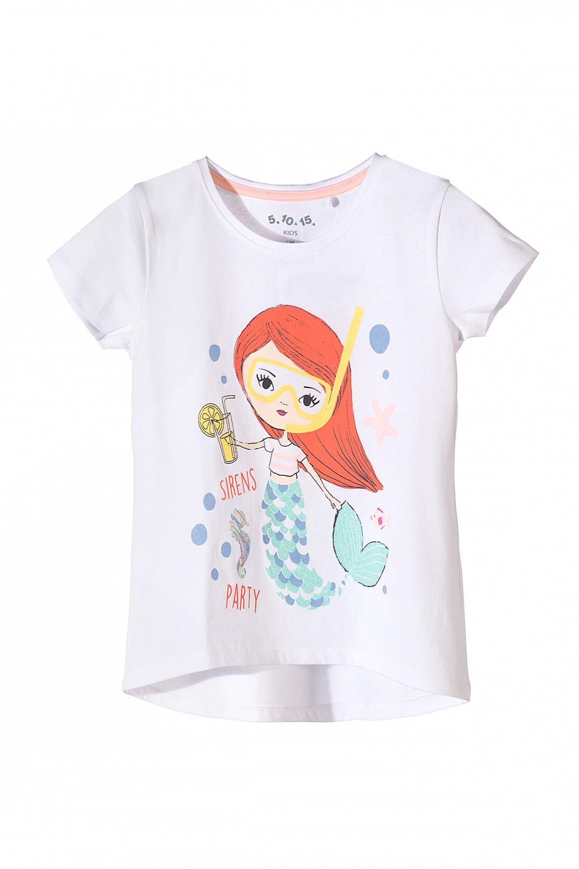 Koszulka dziewczęczęca z kolorowym nadrukiem