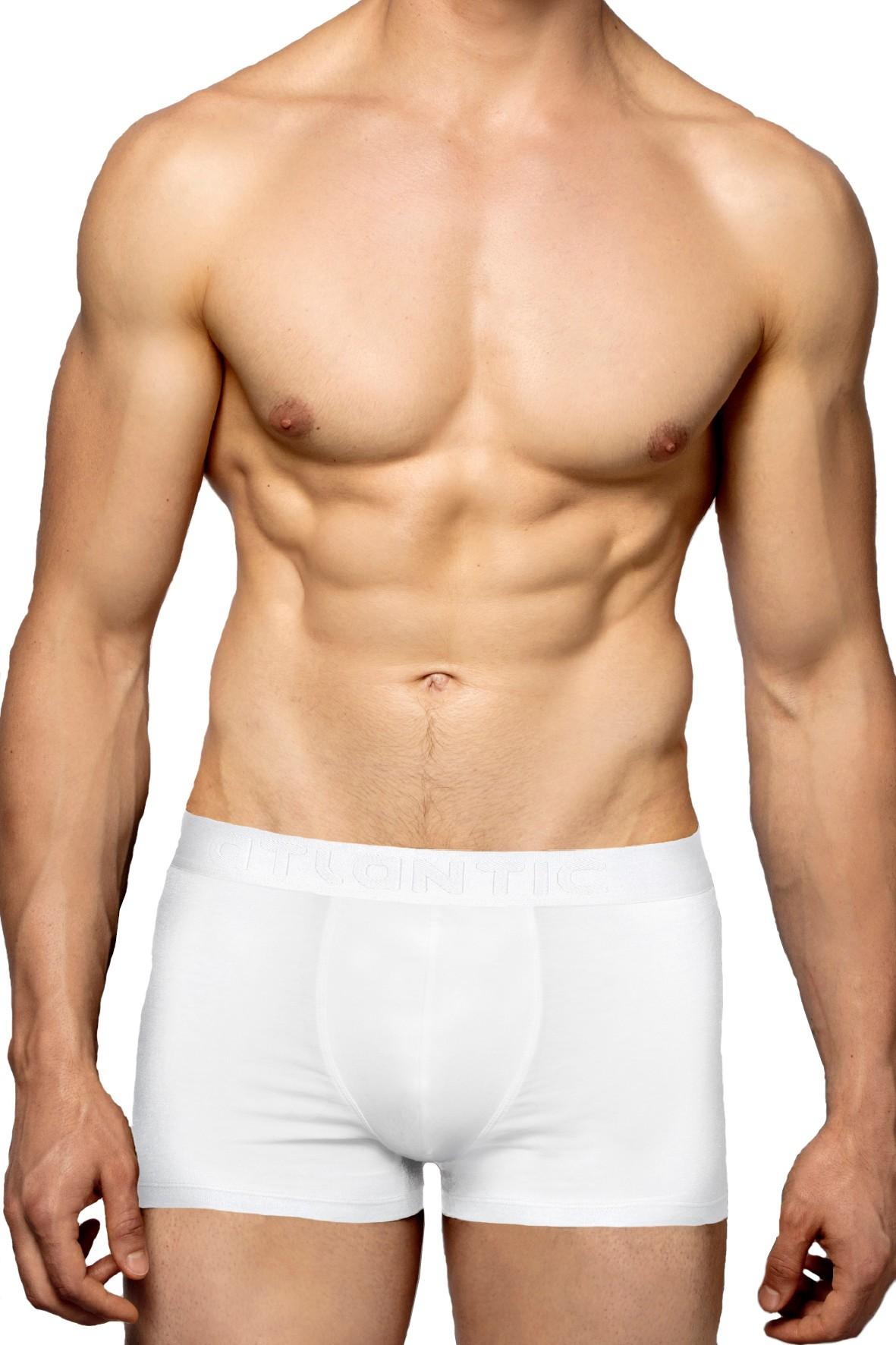 Przylegające do ciała bokserki męskie Atlantic- białe