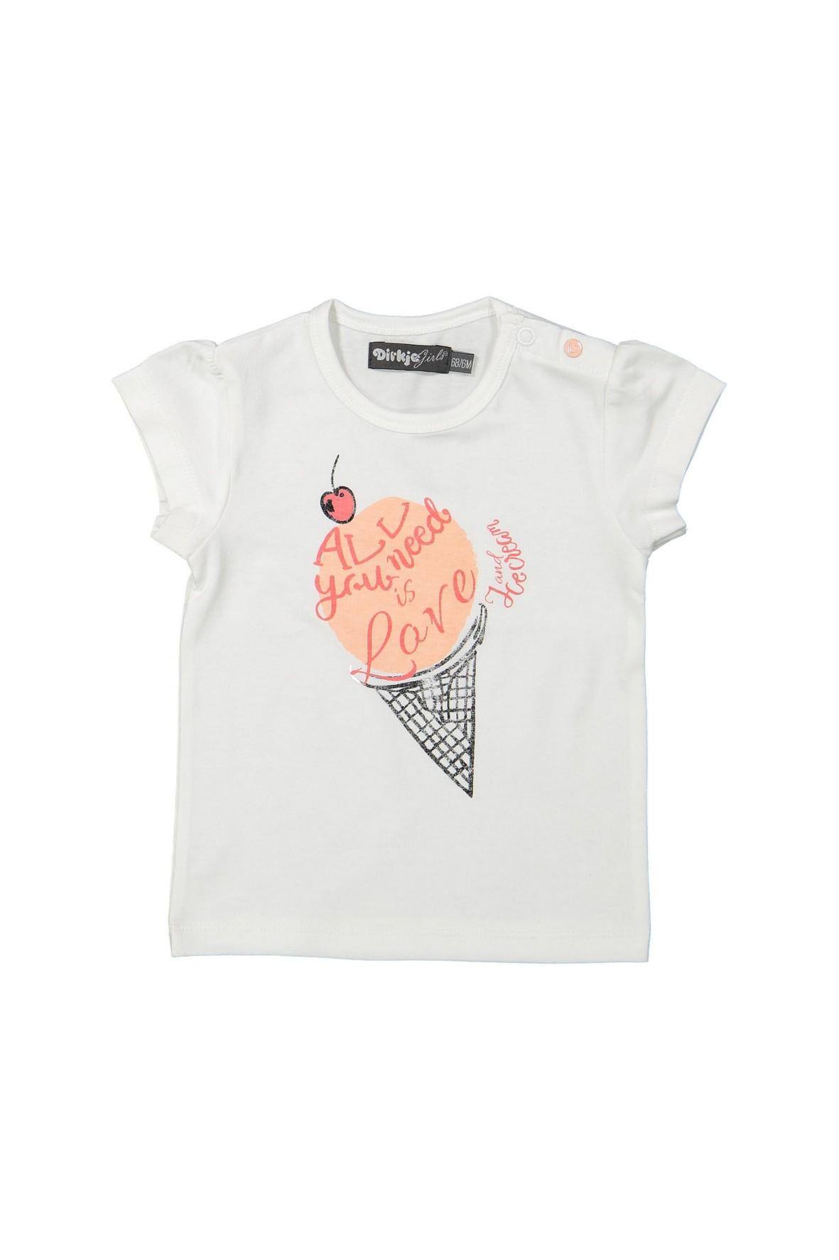 T-shirt dziewczęcy na lato