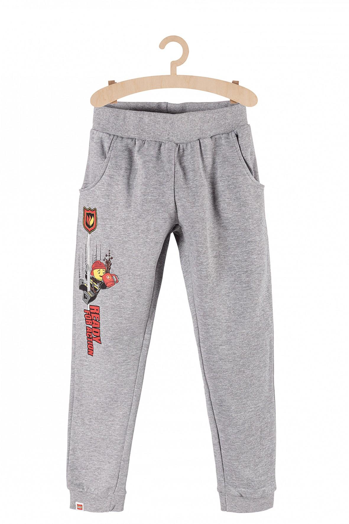 Spodnie dresowe dla chłopca- szare Lego